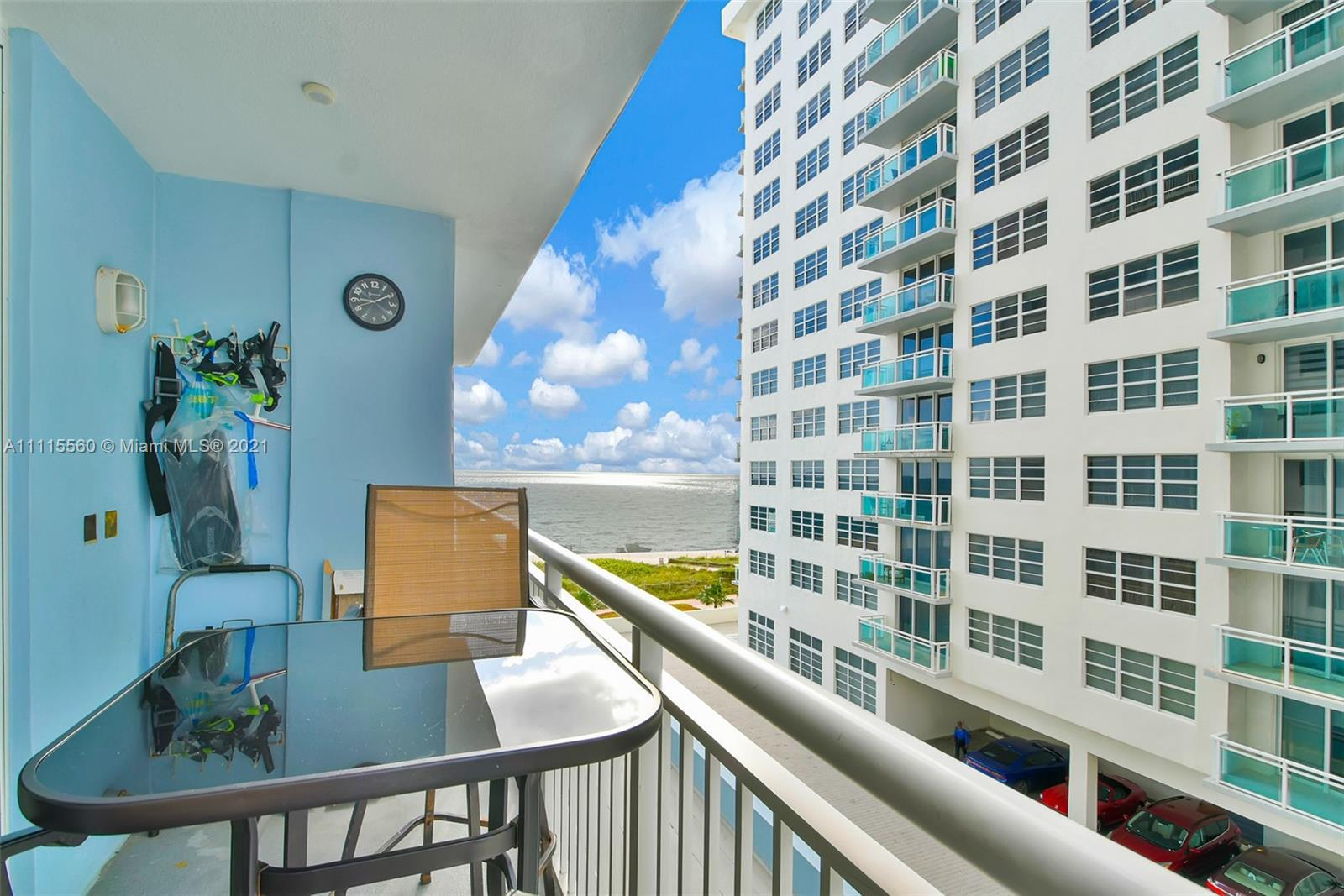 Breathtaking beachfront boutique building with ocean views. Gorgeous kitchen with granite countertop