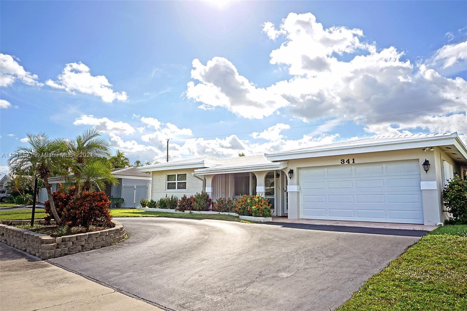 Amazing opportunity to own this 3 Bedroom 2 Bathroom Pool House with a 2-car Garage and Whole-Home G