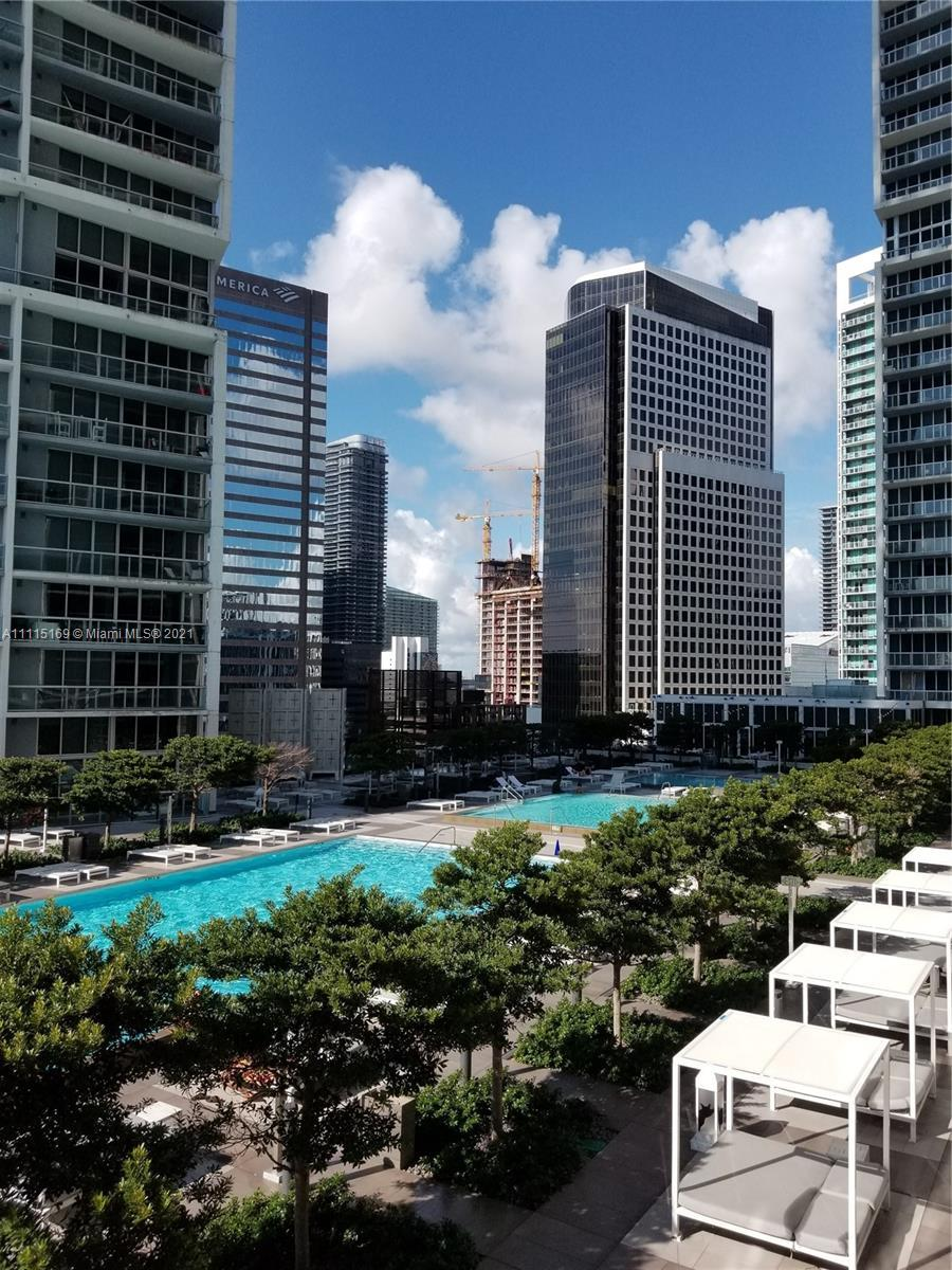 Beautiful 2 bed/ 2 bath plus den apartment in most desirable building in the heart of Brickell. Both