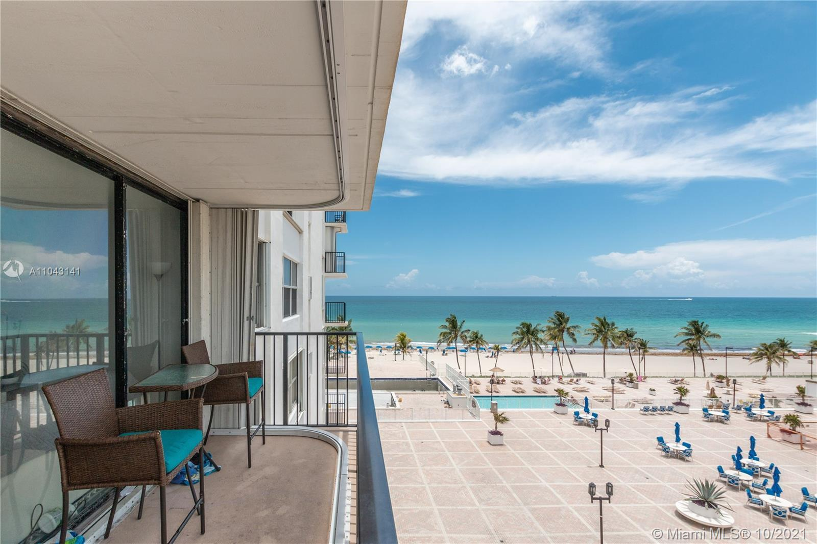 Great Value! Don't miss this opportunity to own a 2/2 in an ocean front complex in the heart of Holl