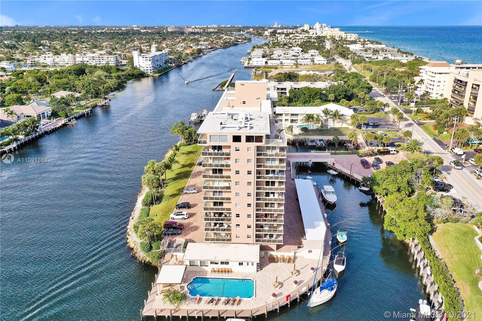 Renovated from top to bottom this 2/2 condo located on Hillsboro Mile is surround by water. Entertai