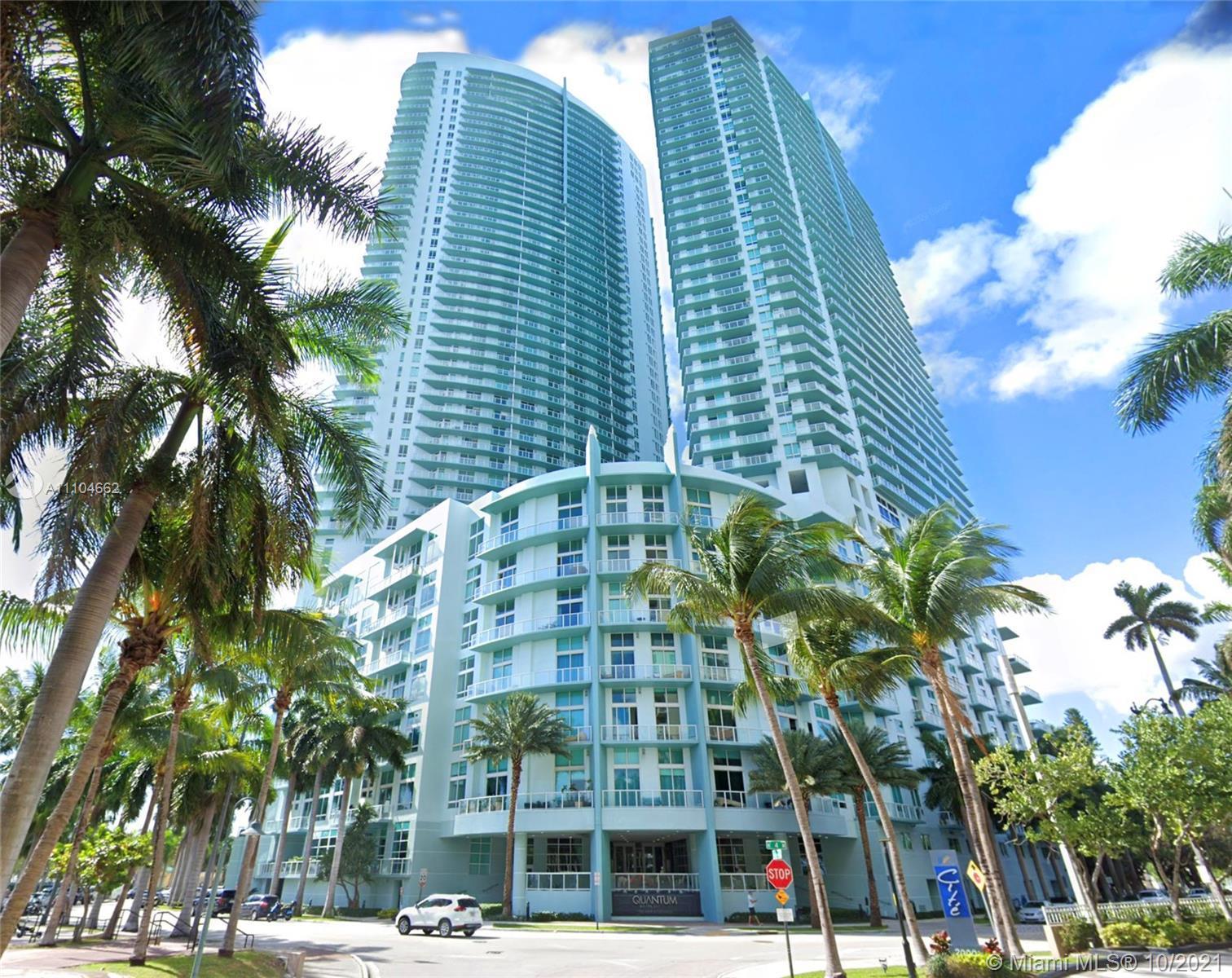 Spacious 37th floor corner unit with extensive views to the City of Miami.  2 bdrm 2 bath, ceramic f
