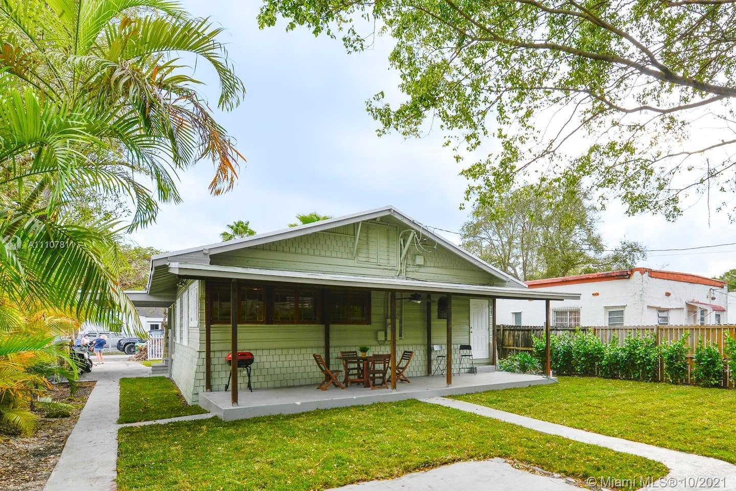 Beautifully renovated 3 bed/2 bath key west style home in move-in condition in the Design District.