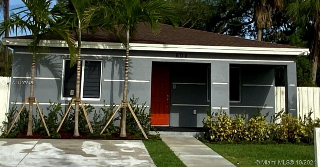HOUSE BUILT IN DECEMBER 2020  Just hitting the market, property for sale at 606 NW 3rd Ave, Pompano