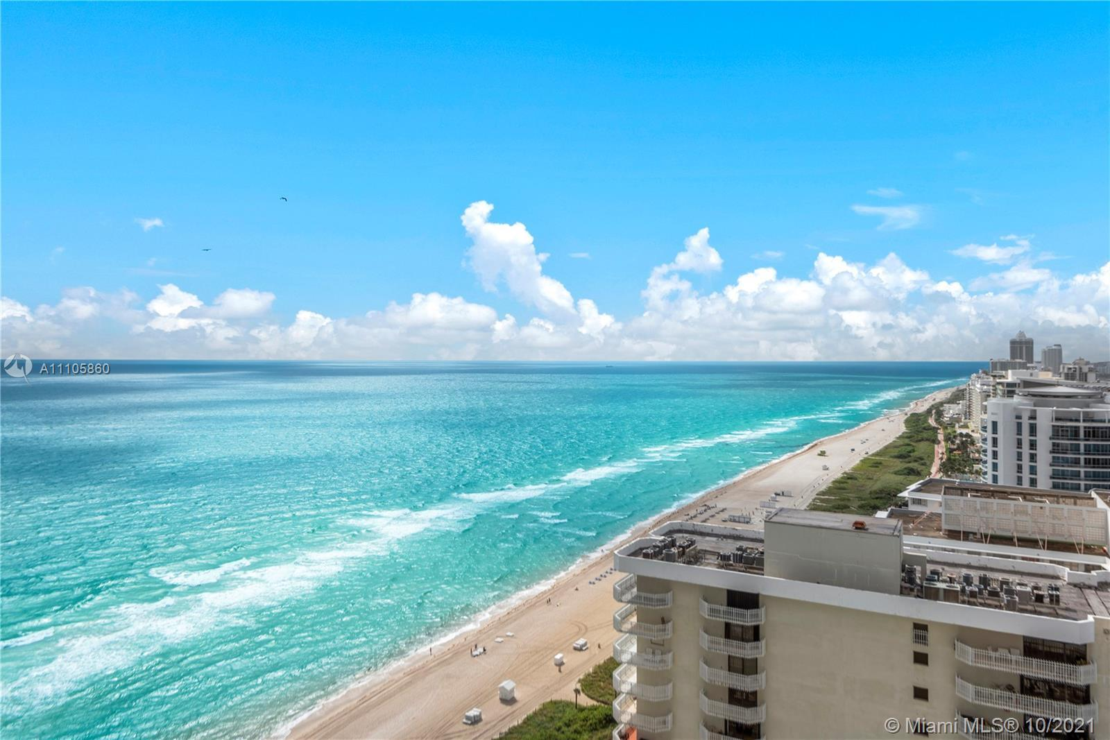 Live on the beach at a spectacular high floor residence. You'll be greeted by endless ocean, beach,