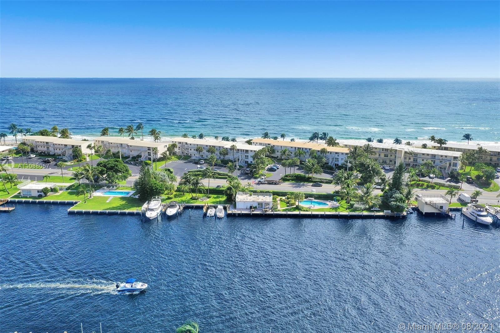 The prestigious sought-after Millionaire's Mile oceanfront unit in Hillsboro Beach is literally just