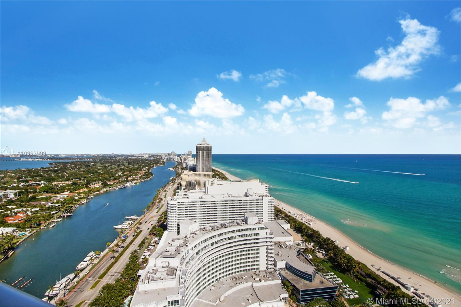 Fontainebleau II Condo-Hotel -Tresor, builded in 2005. Corner unit #3603 has direct Ocean views from