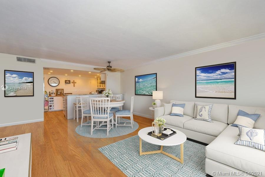 Enjoy breathtaking direct oceanfront and distant skyline views from this updated south-facing floorp