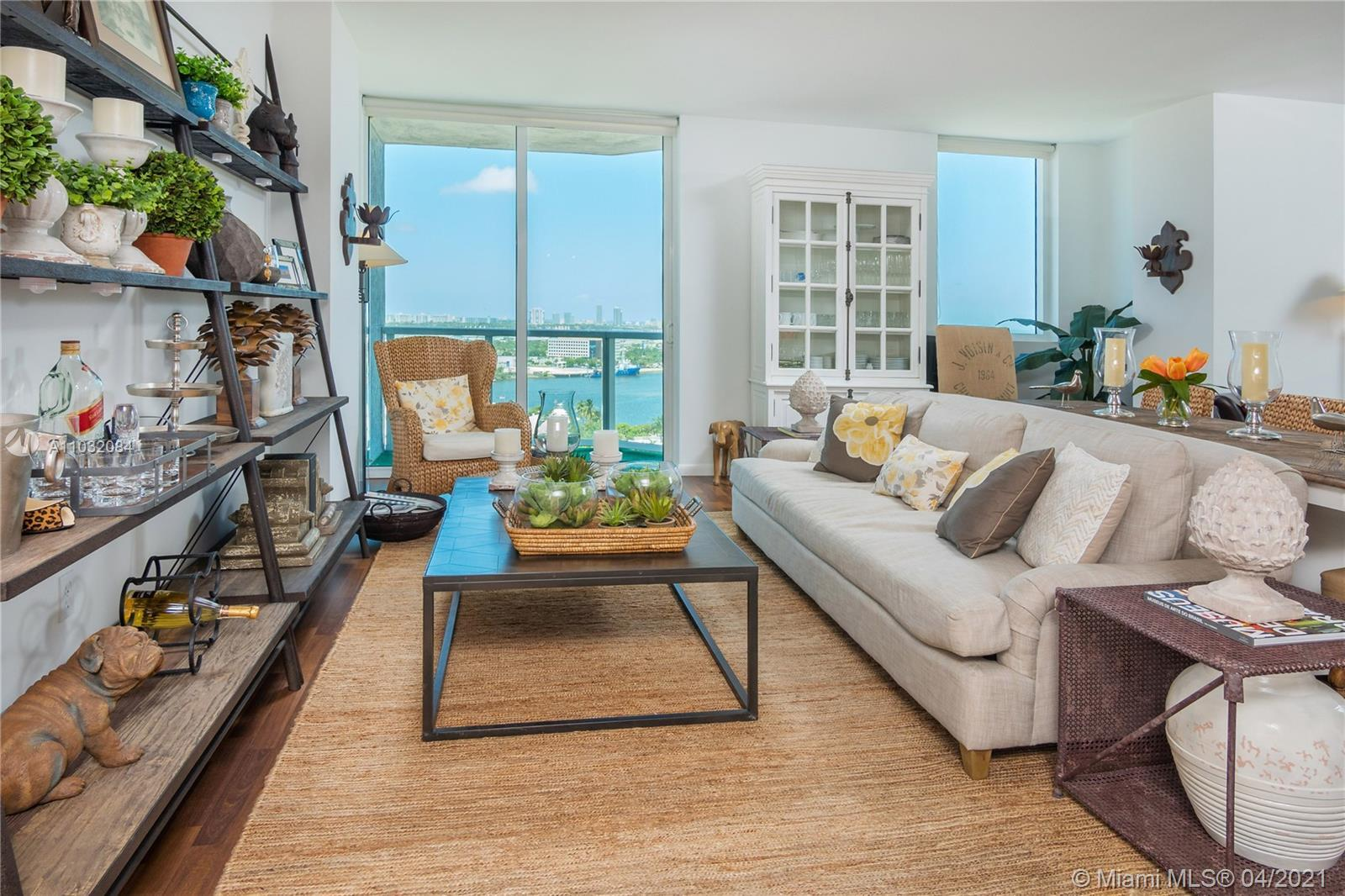 Stunning views of Biscayne Bay, Atlantic Ocean, Key Biscayne. Across the street from the Shops at Bi