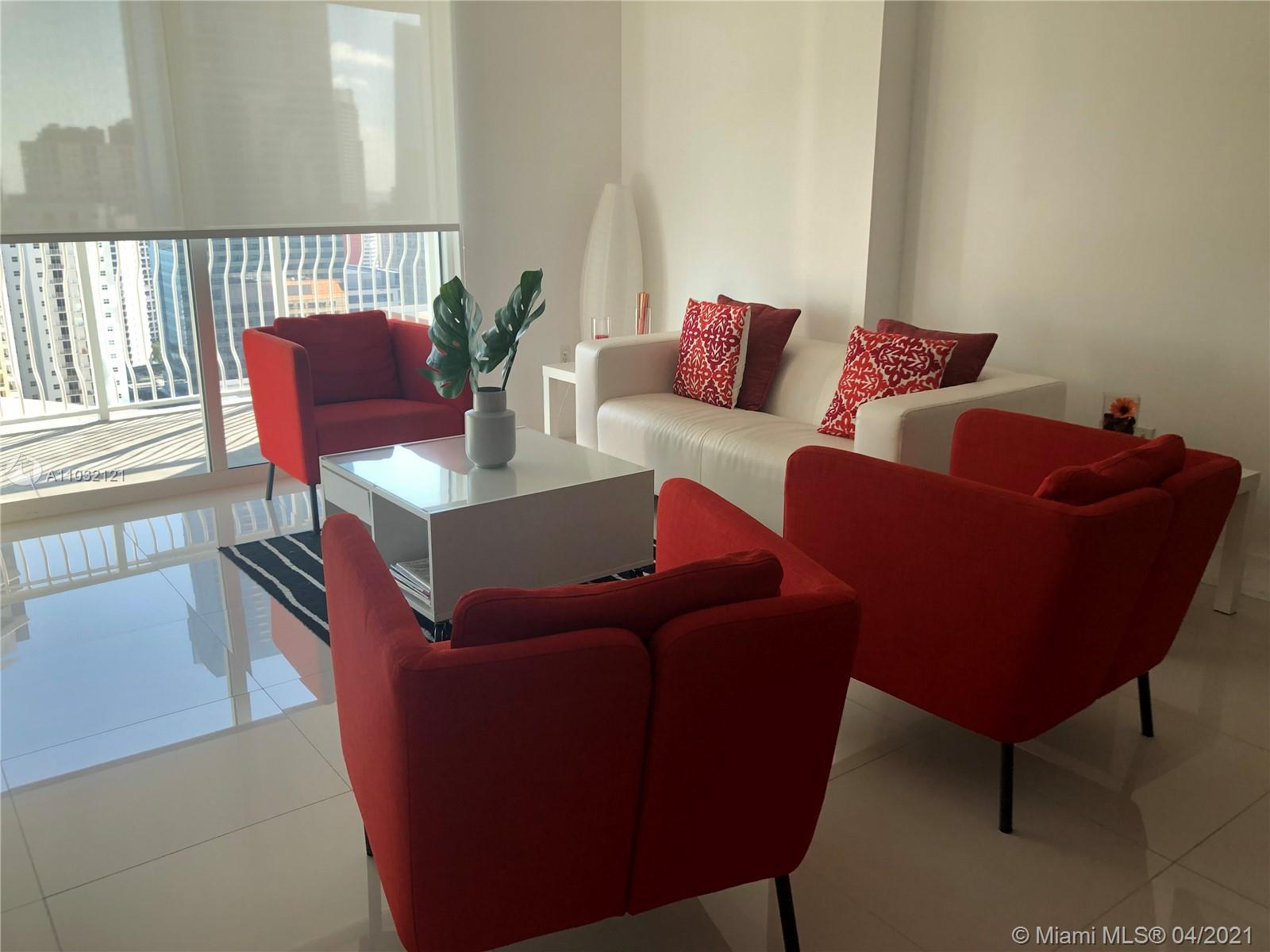 ENJOY MIAMI STYLE LIFE, GREAT VIEW. TILE FLOOR IN THE WHOLE APARTMENT. BUILDING ALLOWS SHORT TERM. G