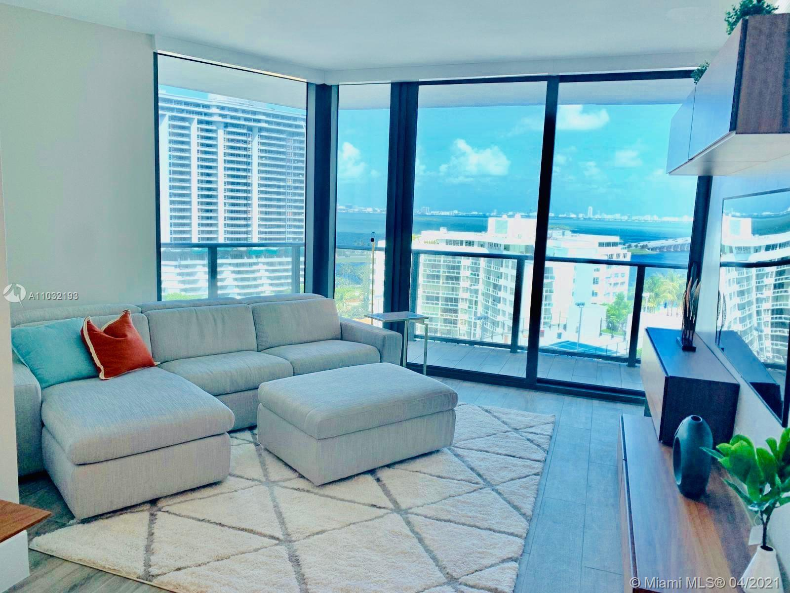Amazing Biscayne Bay views and endless amenities. Unit is professionally furnished and decorated wit