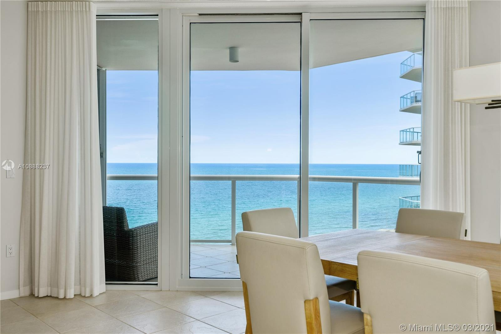 3 Bedrooms !All Ocean & Intracoastal views from this lovely bright modern turnkey beauty.Wrap balcon