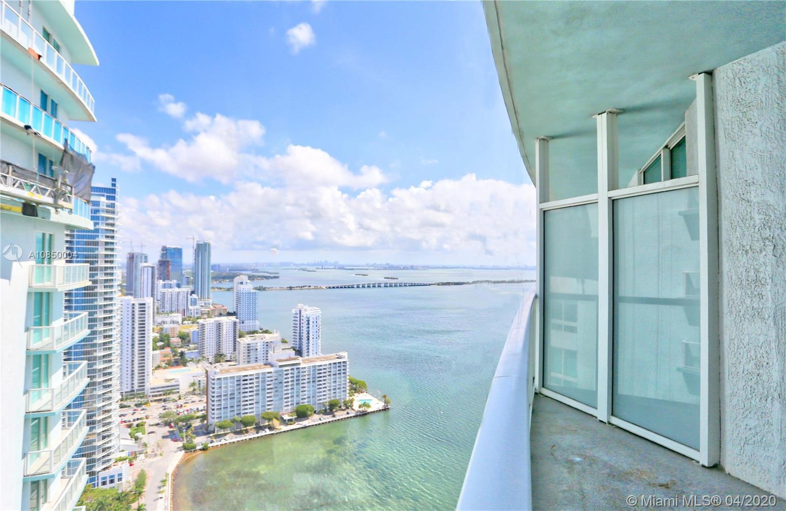 Amazing Bay view in this 1 bedroom /1 bath unit at Quantum on the Bay. European kitchen cabinets, Wh