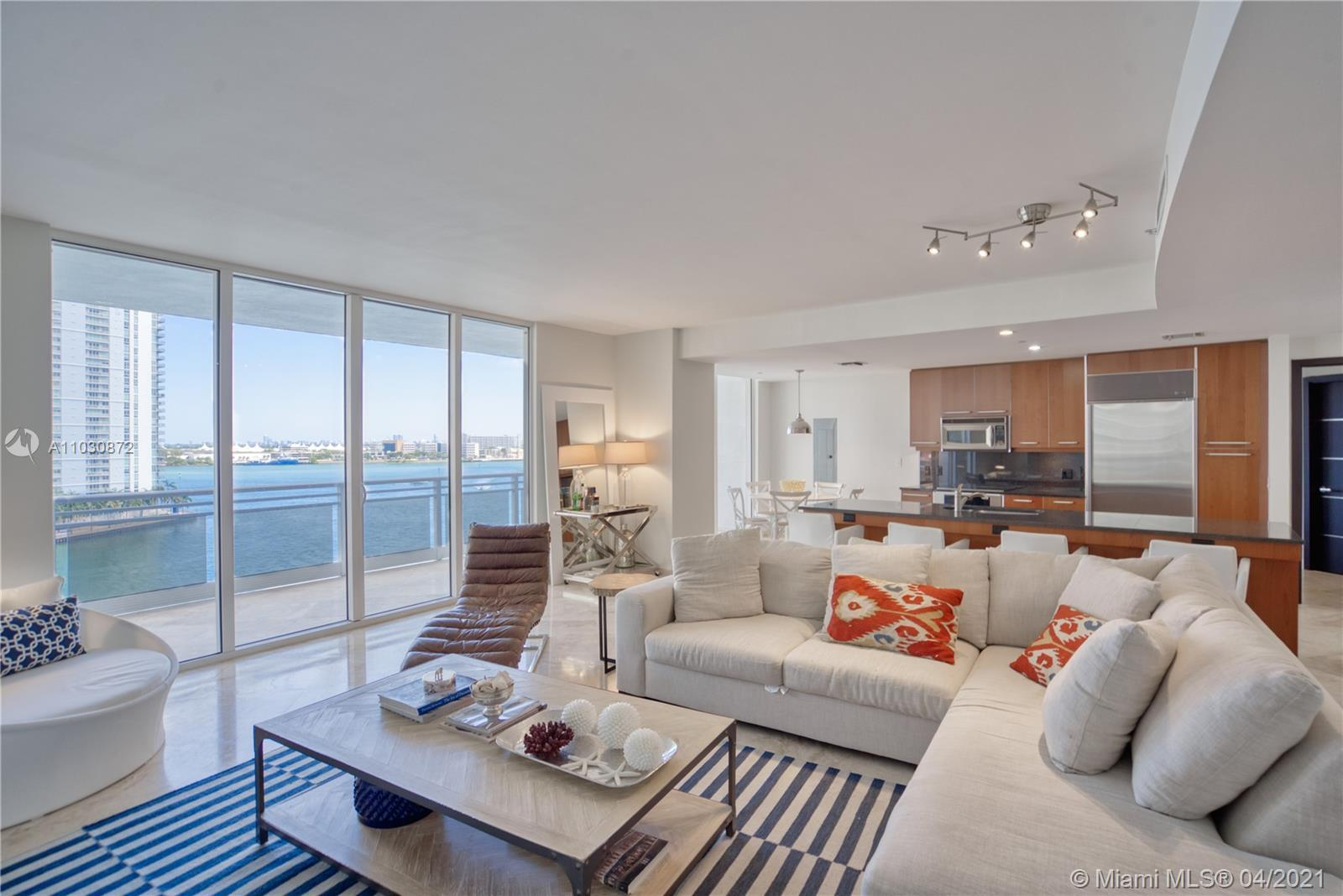 2/2.5 fully remodeled, furnished, unobstructed water views condo. Located on the 9th floor, it is ju