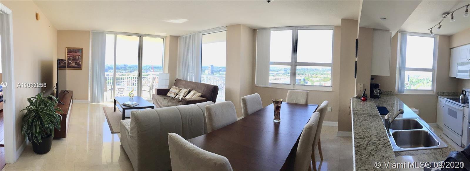TURN KEY- Corner unit 2 Br 2 Baths- Fully Furnished high floor condo with wraparound balcony. Turnbe