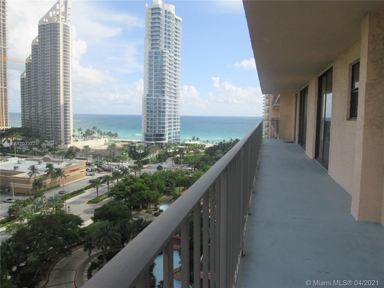 Enjoy the beautiful view of the city and Intracoastal from this large corner apartment across the st