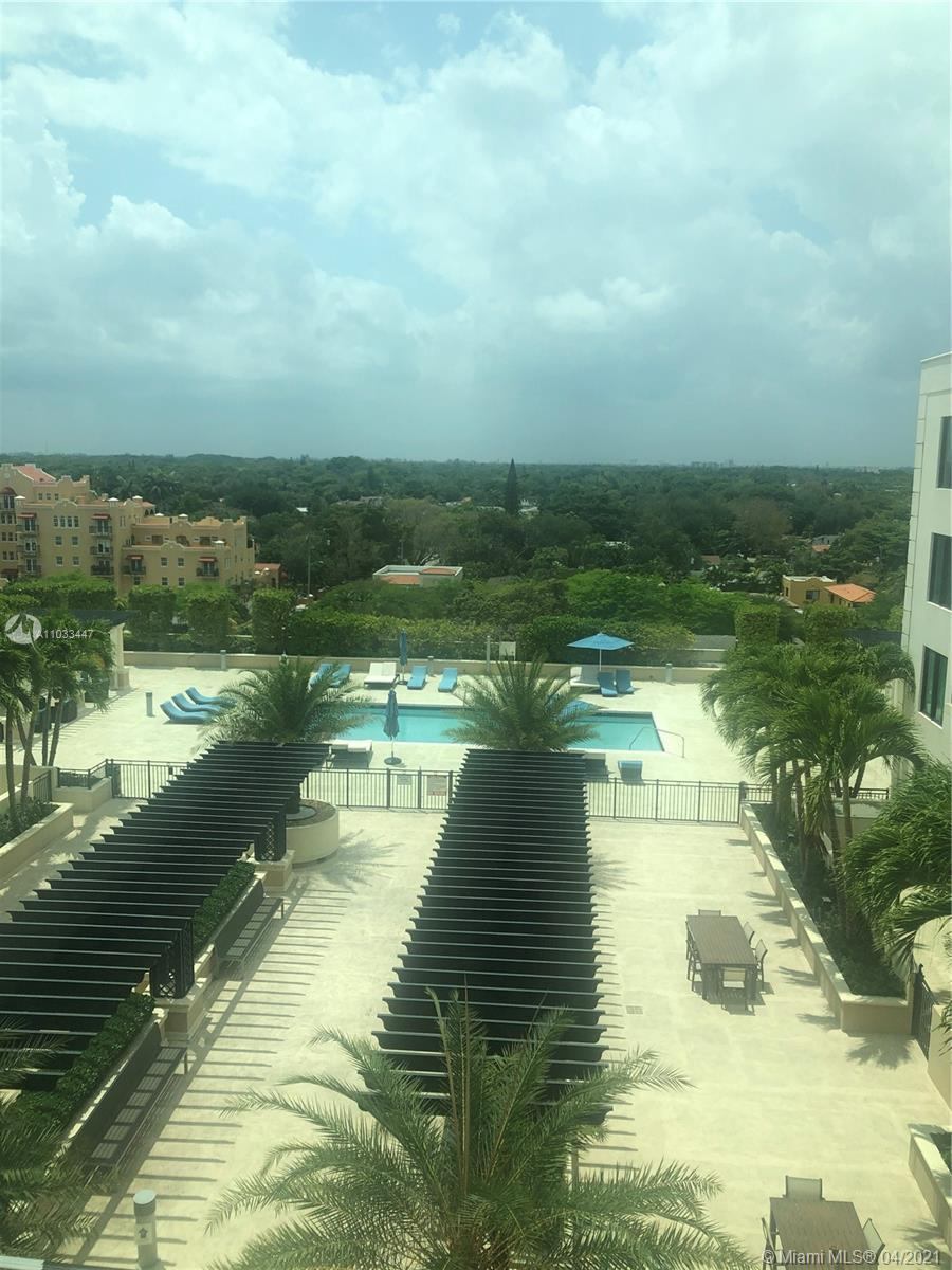 Beautiful 1/1.5  Plus Den , condo with balcony in Downtown Coral Gables. Amenities include gym, larg