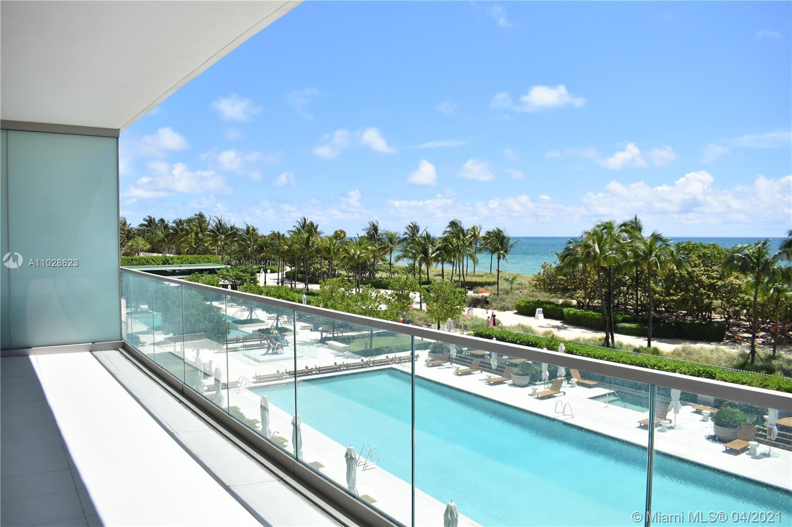 Lowest priced ocean front corner unit 2 beds, 2 1/2 Baths at the beautiful & desirable Oceana Bal Ha