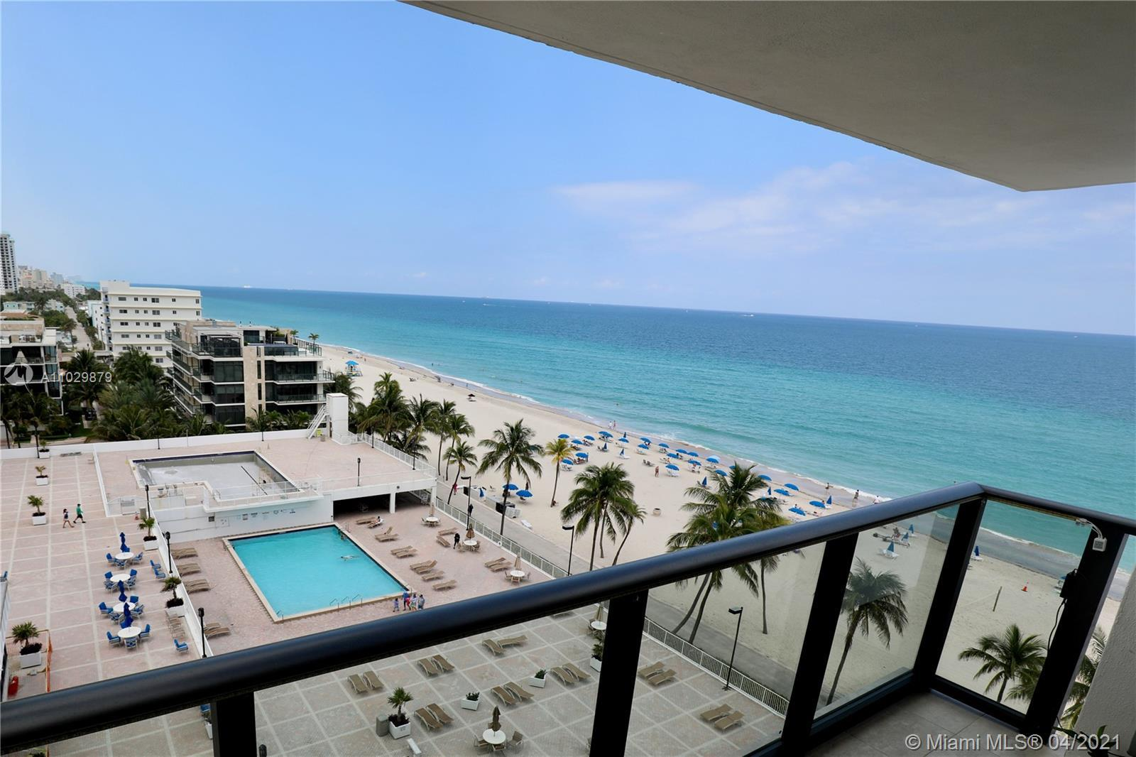 Beautiful ocean front beach condo near the Hollywood Broadwalk & Hallandale Beach. See the ocean fro