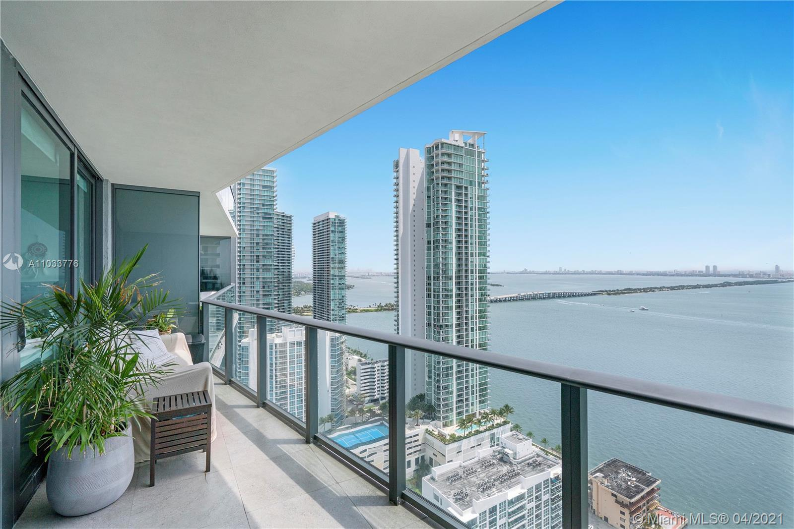 Enjoy outstanding unobstructed Biscayne Views from this 34th floor condo unit for sale at Icon Bay.