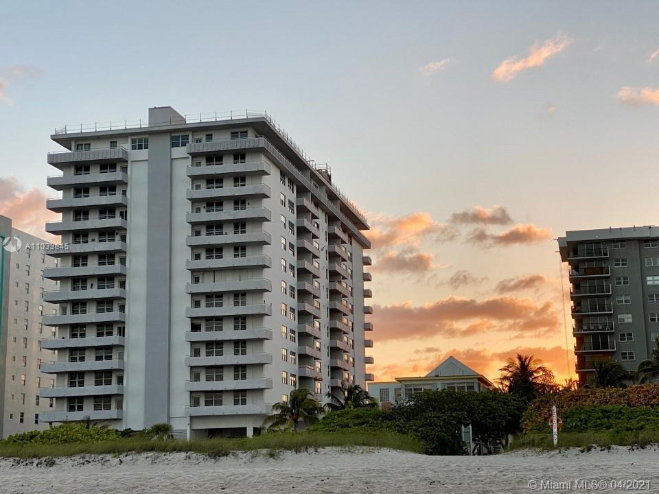 Beautiful panoramic ocean and city view, 7th floor unit on highly desirable Surfside Beach at The Ma