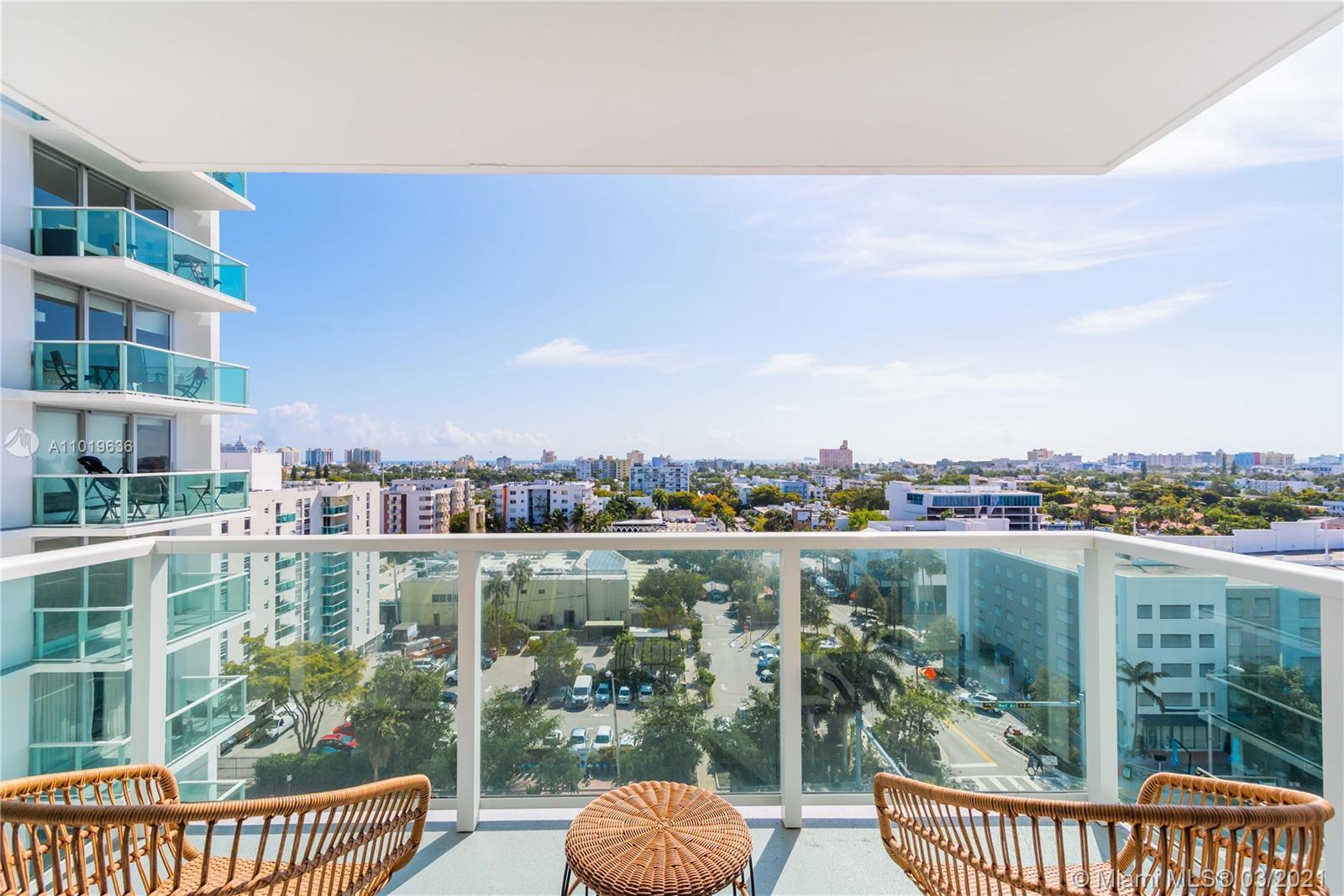 Extra Large 787 sf Bright east facing Studio located on West Ave in South Beach. Unit is recently an