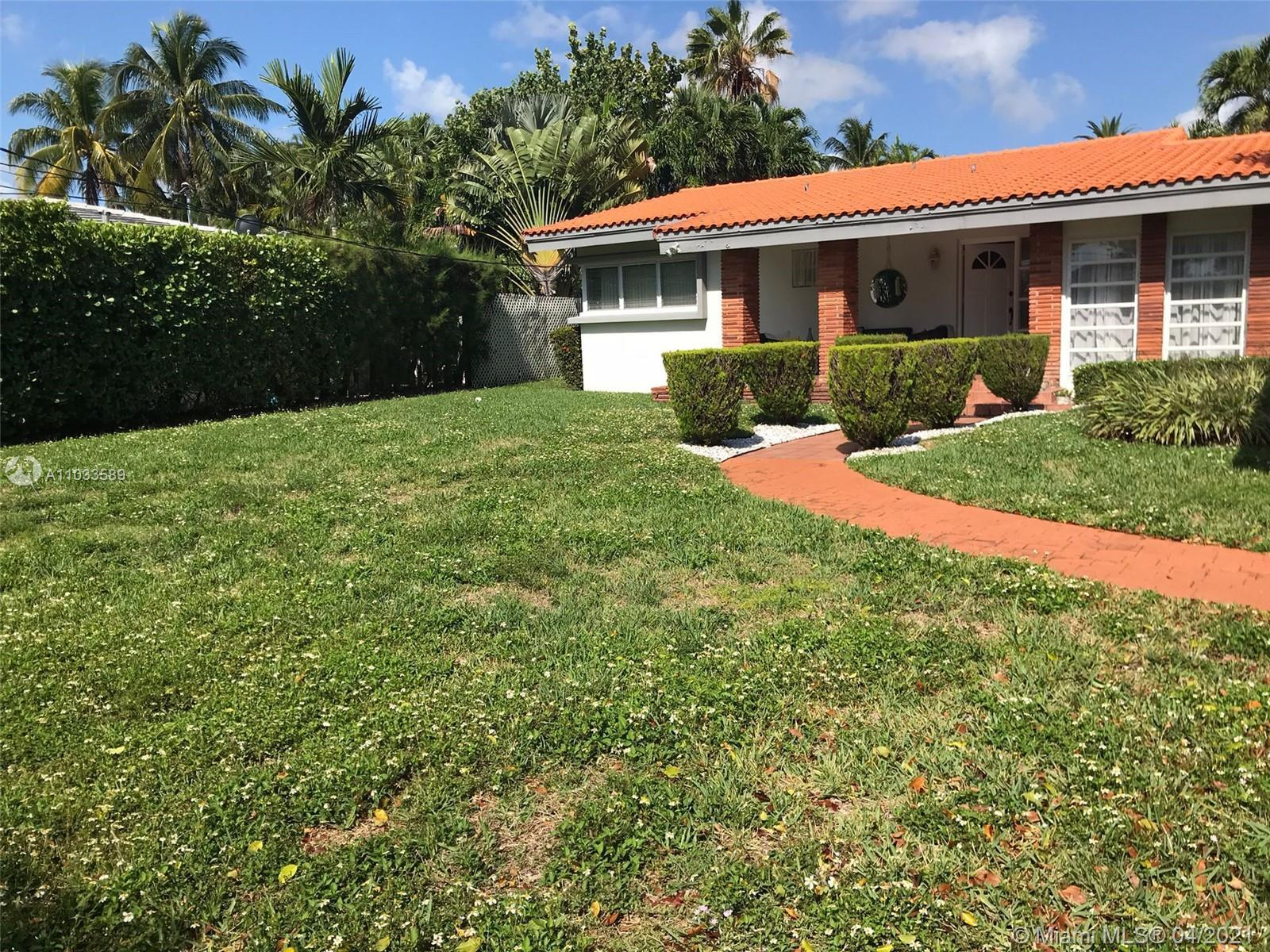 A  rare opportunity to buy one of the largest lots in the best neighborhood on Miami Beach. A comple