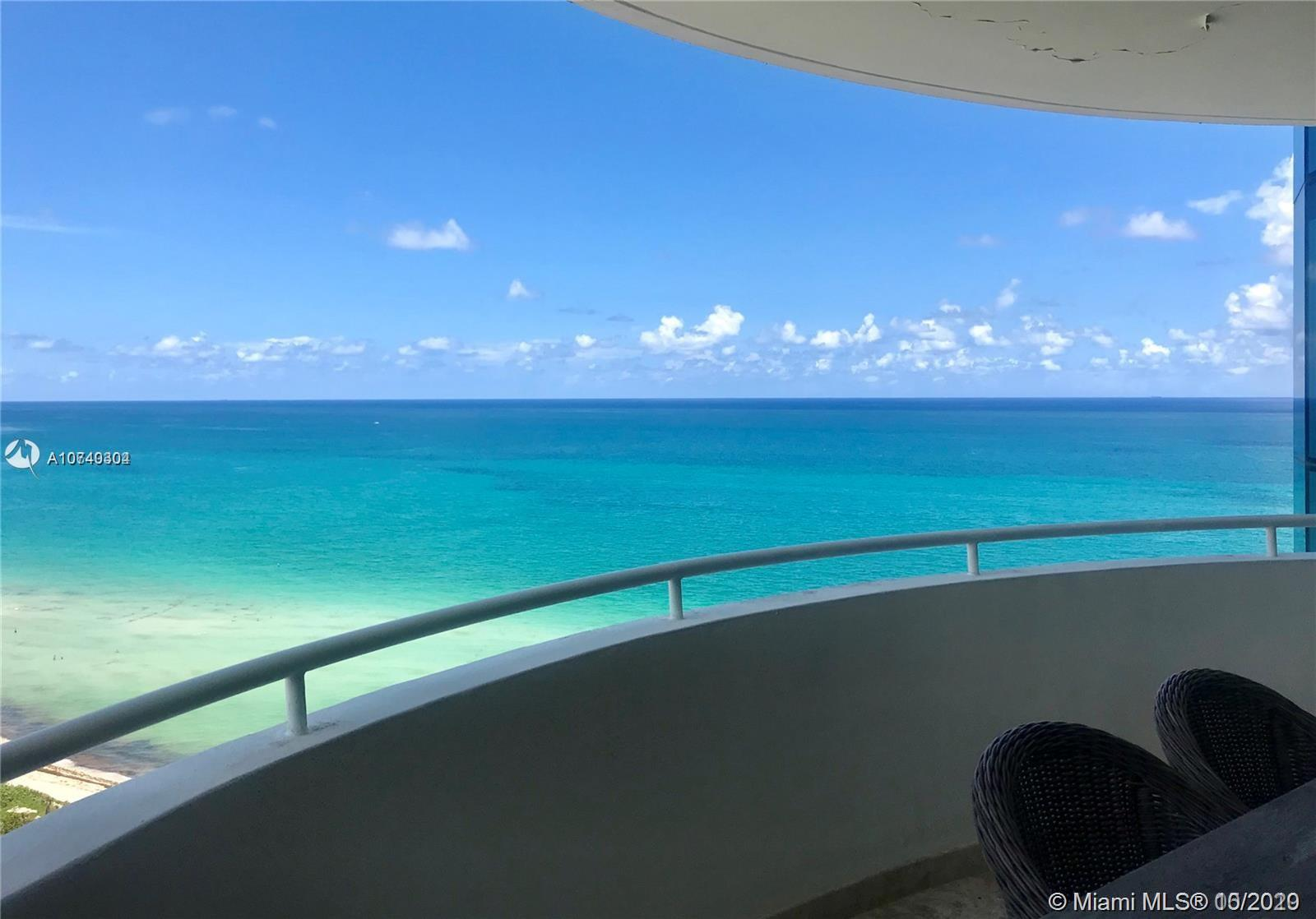 MIAMI BEACH DIRECT OCEAN-3 BEDROOMS-TILES THRU-OUT-VIEW OF OCEAN AND BAY-2 BALCONIES-CEILING TO FLOO