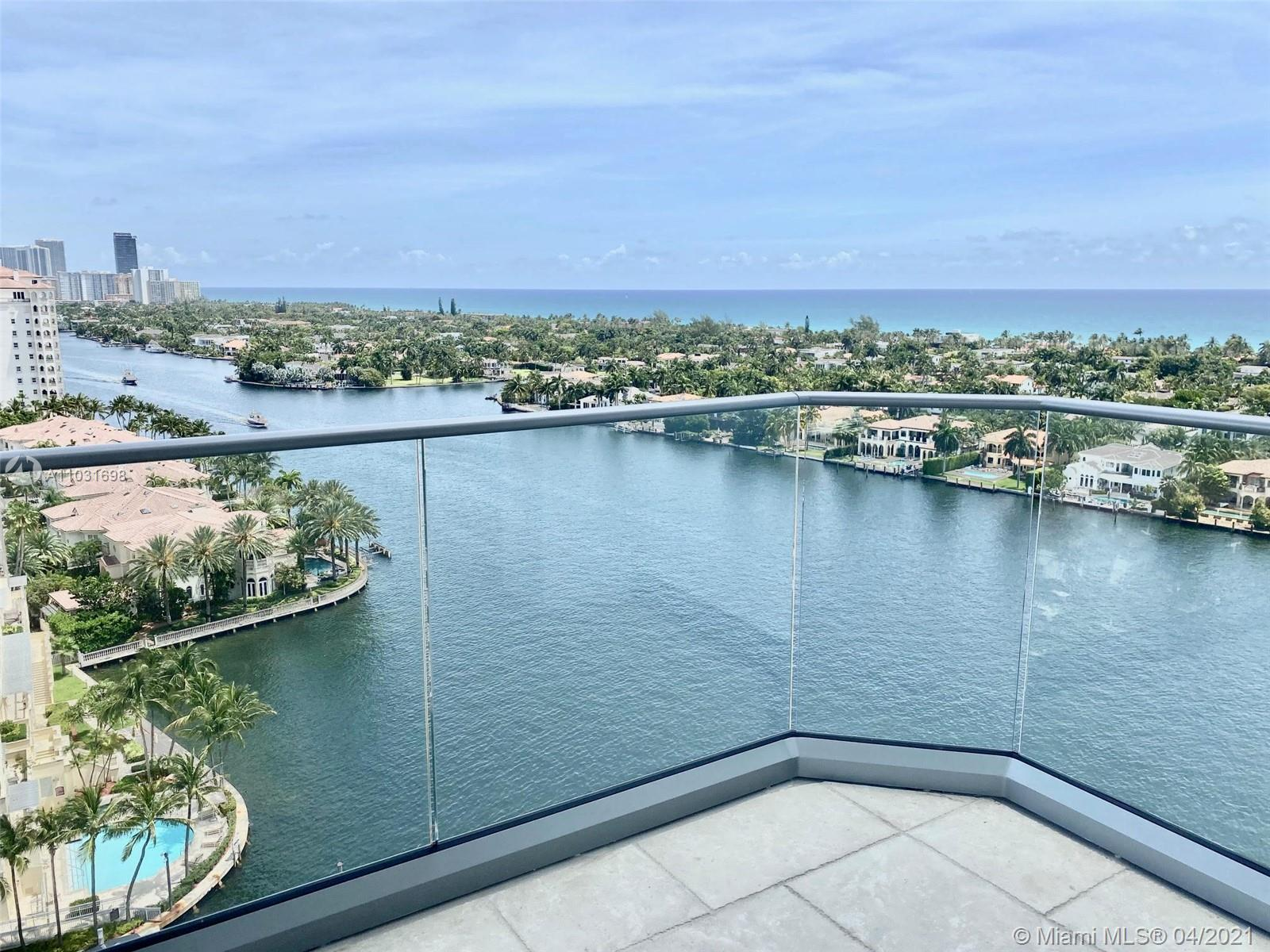 Panoramic views  to Ocean and Intracoastal from this 18th Floor -- Large 2 Bedrooms/ 2 Bathrooms (19