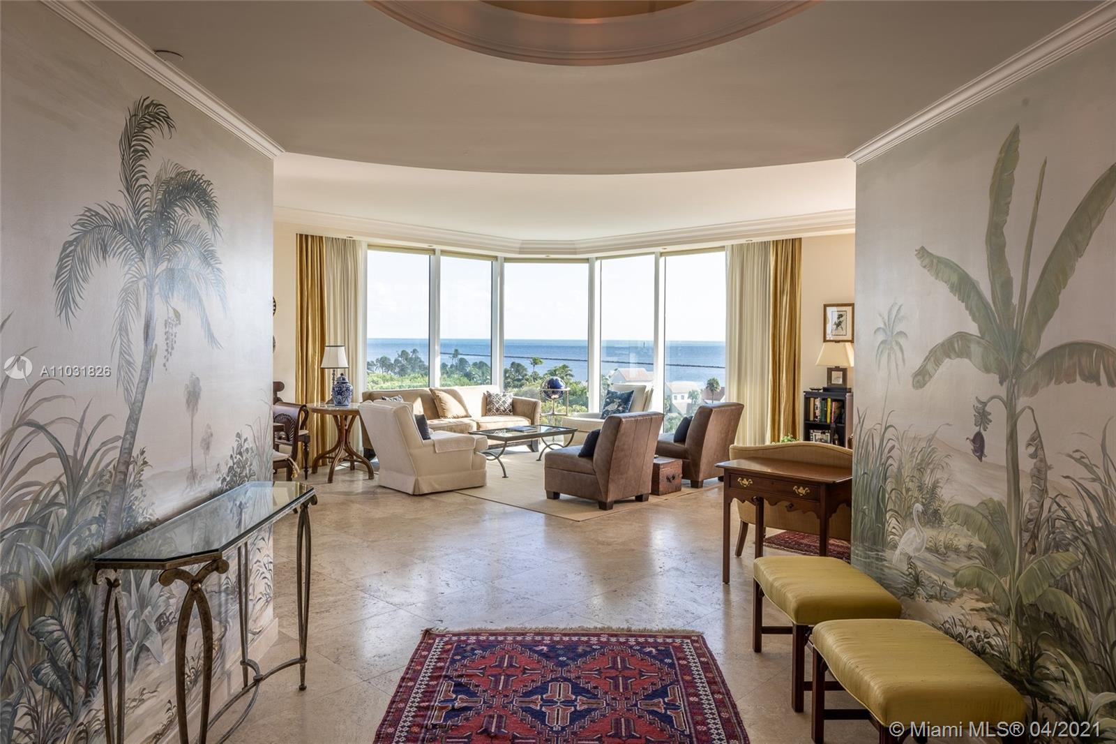Rare 3-bedroom, large floorplan within walking steps to the beach at Miami Beach's iconic Portofino