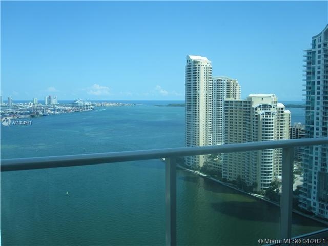Direct bay views from this 2/2 split plan condo. East exposure. 9.4 ft. ceiling height. Integrated k