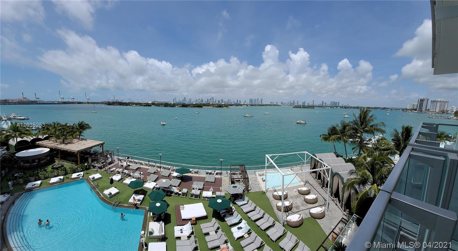 The most sought after view in South Beach...direct Bay view with Miami's growing City Skyline in the