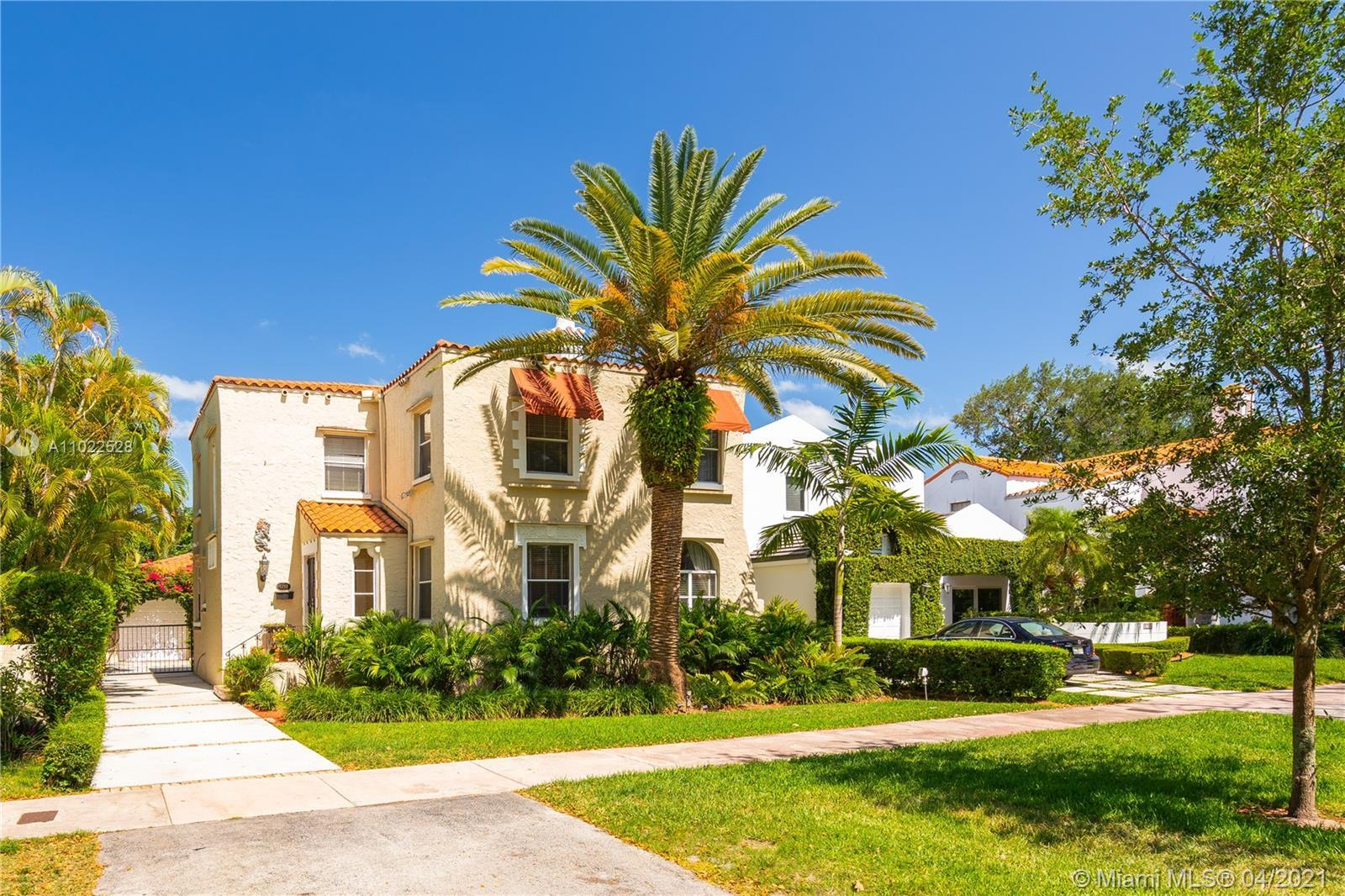 Quintessential Old Spanish style home, located on prestigious Rivera Dr in the South Gables. This Cl