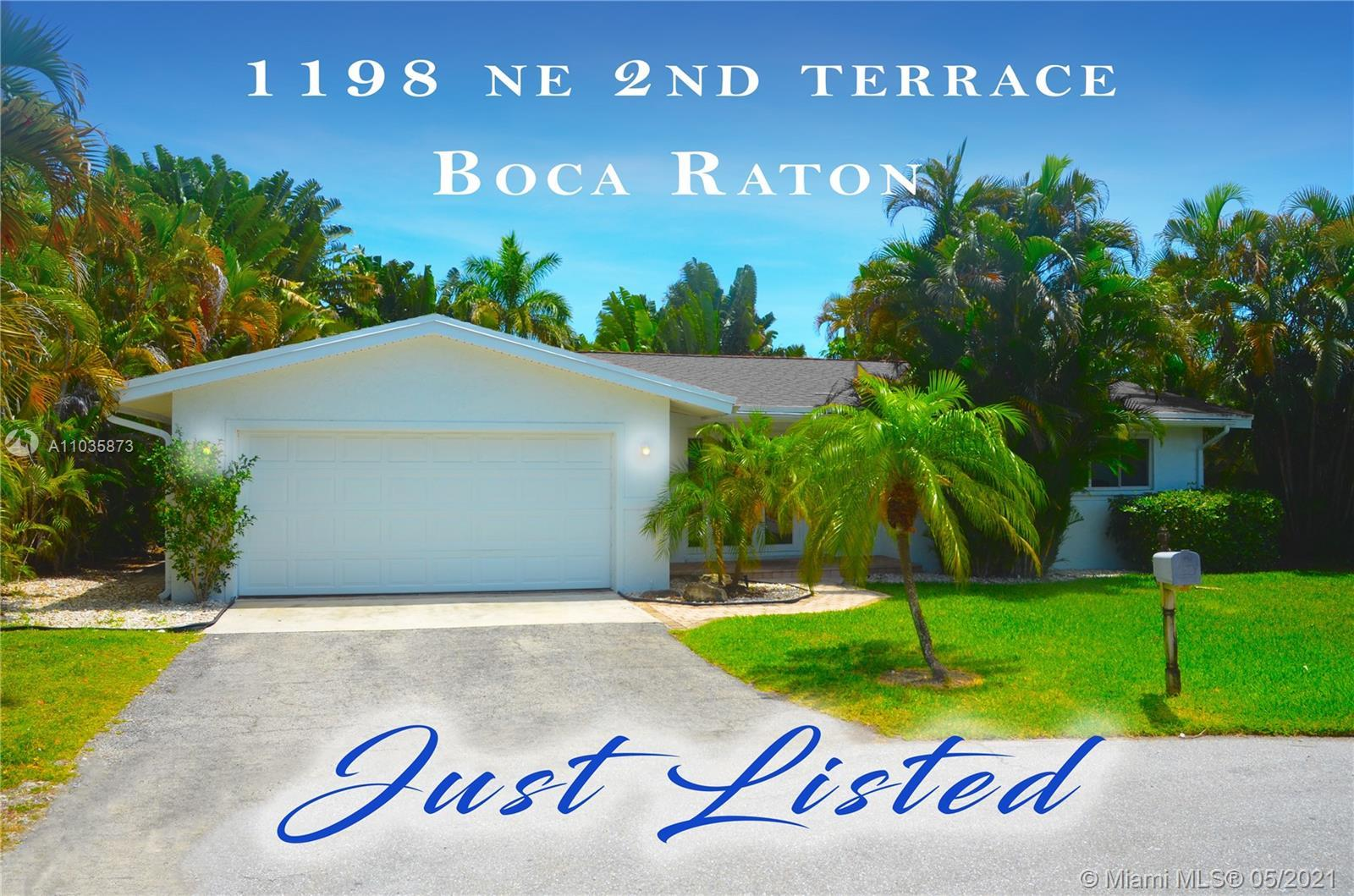Gorgeous oversized 3/2 pool home located in Boca Villas just behind Mizner Park. Enjoy all of what e