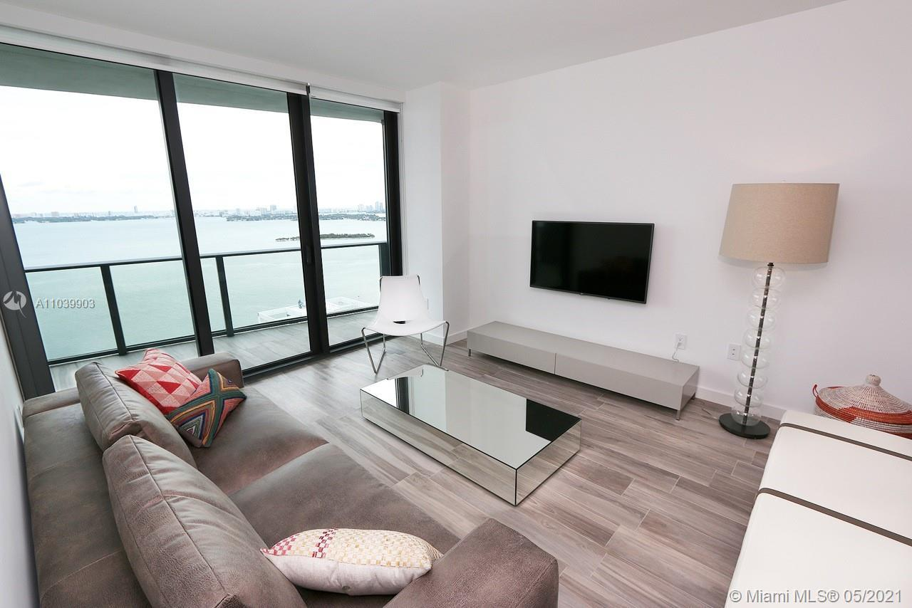 Brand New Unit with unobstructed direct views of Biscayne Bay and Miami Beach . 2 Bedrooms, 2 Full B
