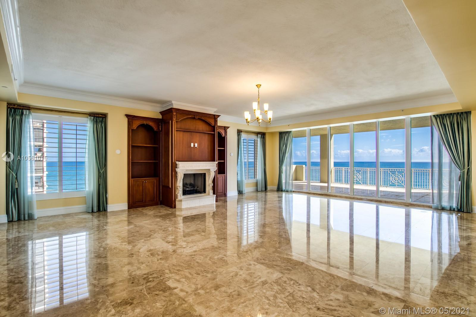 Breathtaking panoramic views of the ocean and intracoastal surround this luxurious 11th floor pentho