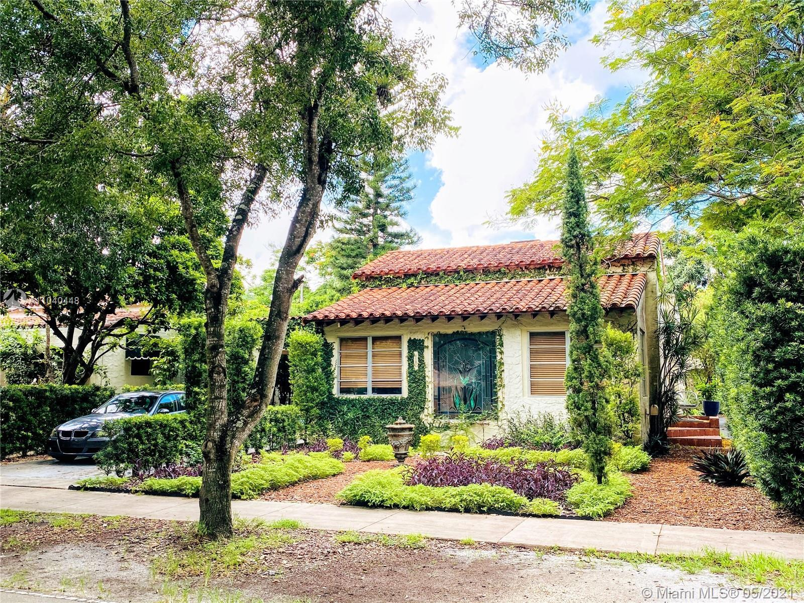 Embrace the charming lifestyle of Coral Gables with this 1925 Old Spanish historic designated home.
