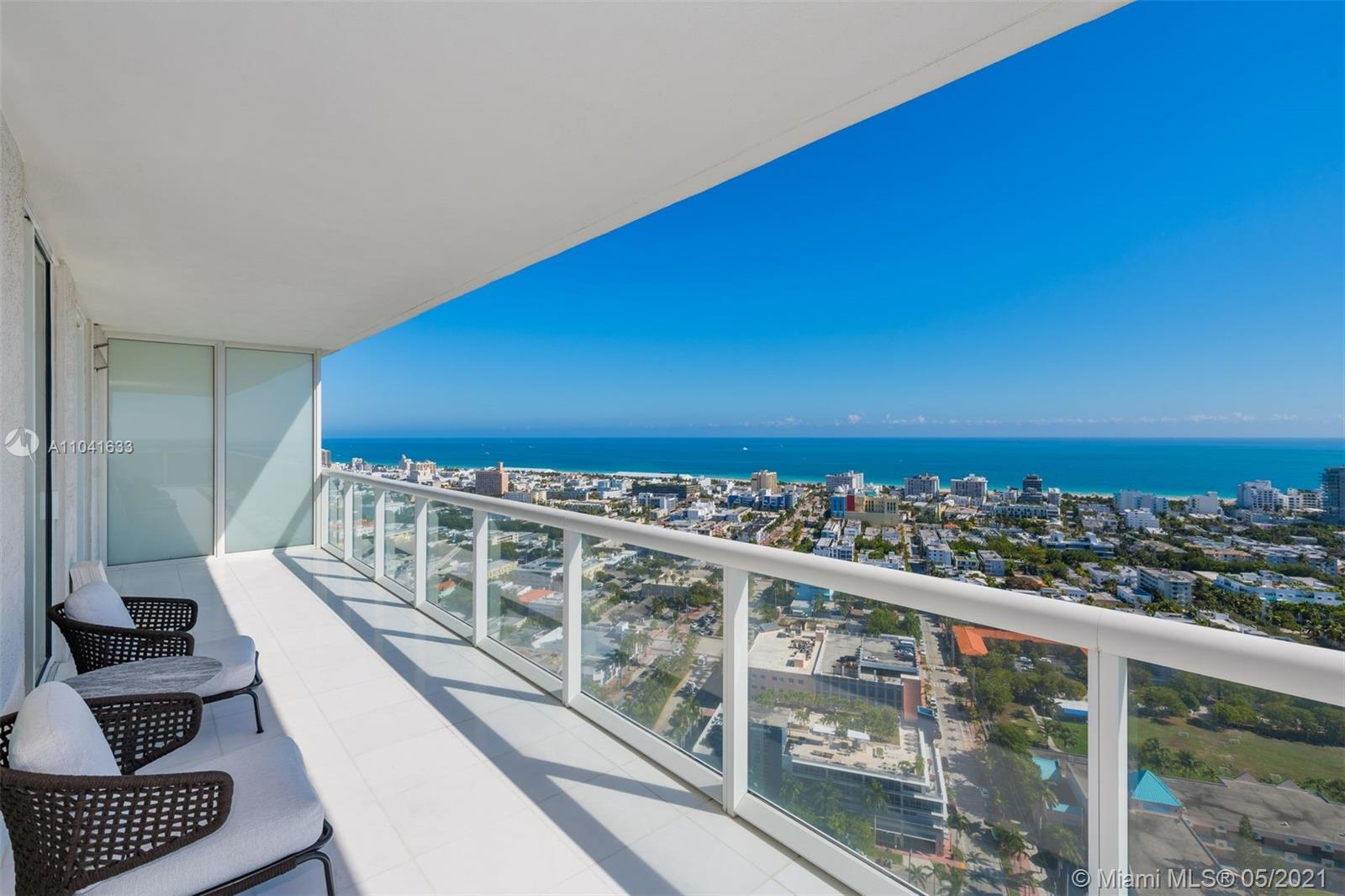 "Sought after ""07"" line on high floor considered to be the best 2 bedroom at ICON South Beach. Spacio"
