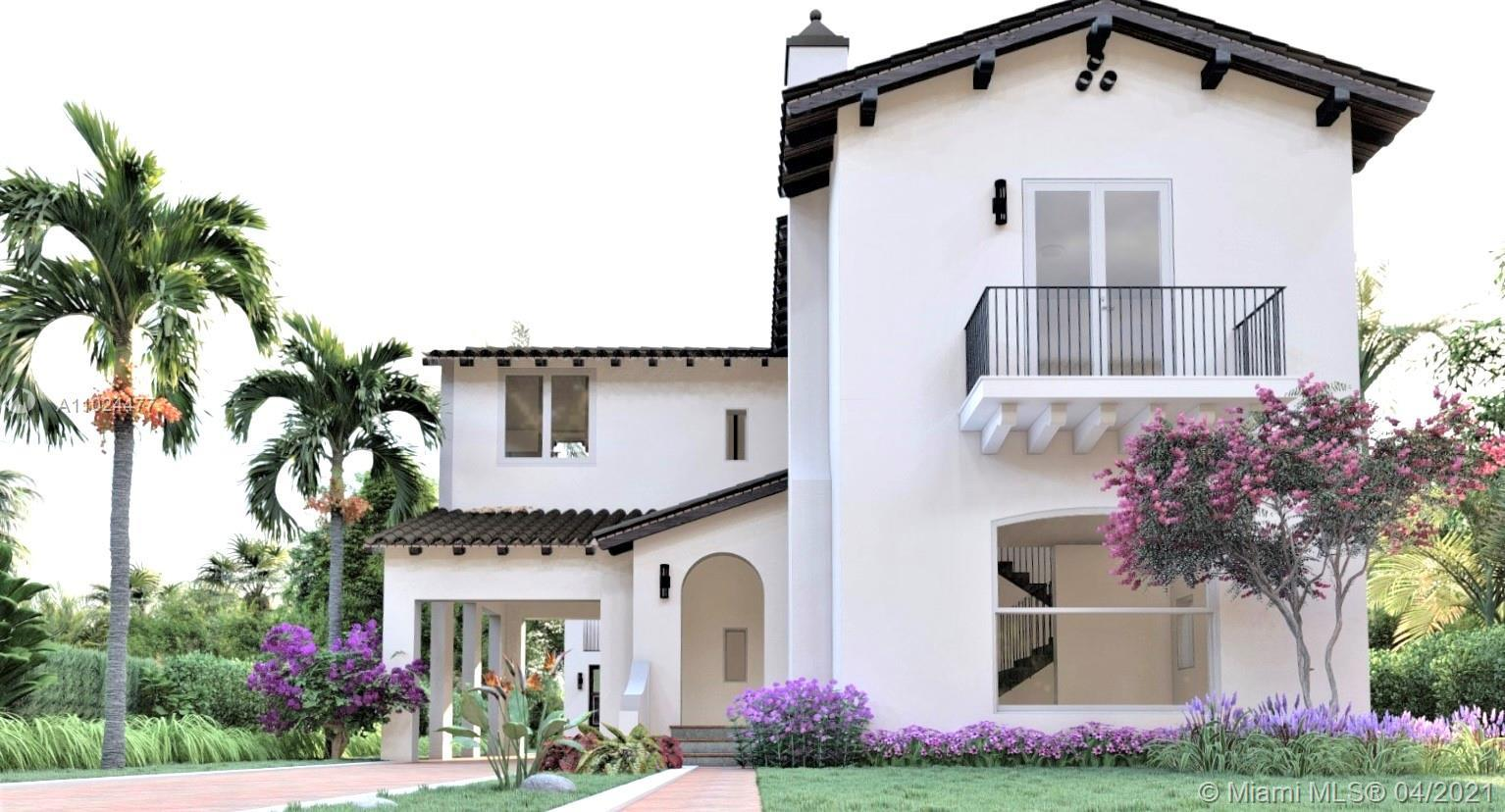 Spectacular one of a kind two-story new construction home nestled in the heart of Coral Gables. Main
