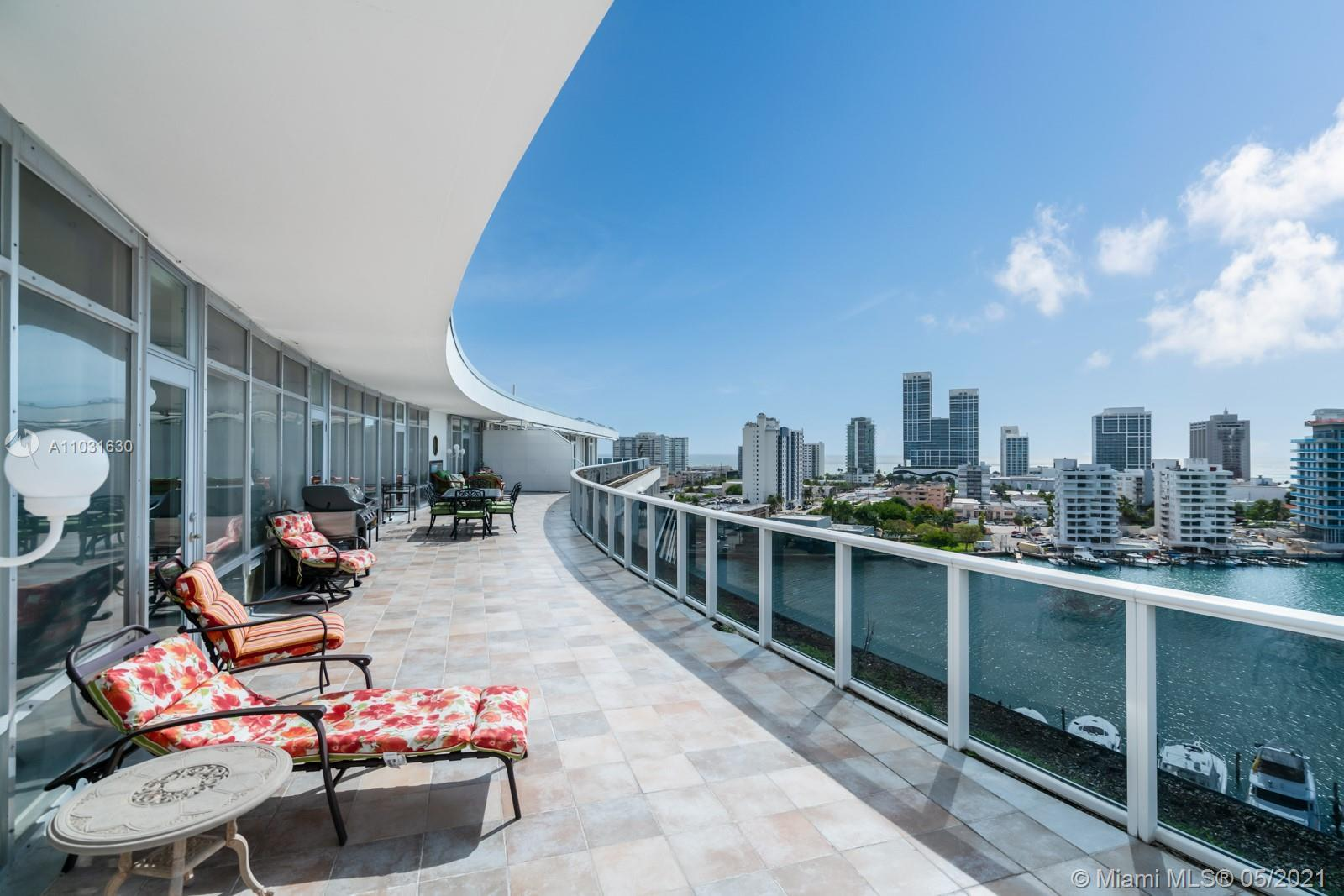 Marvel at the spectacular views of the Intracoastal, Atlantic Ocean, and Miami skyline from this bea