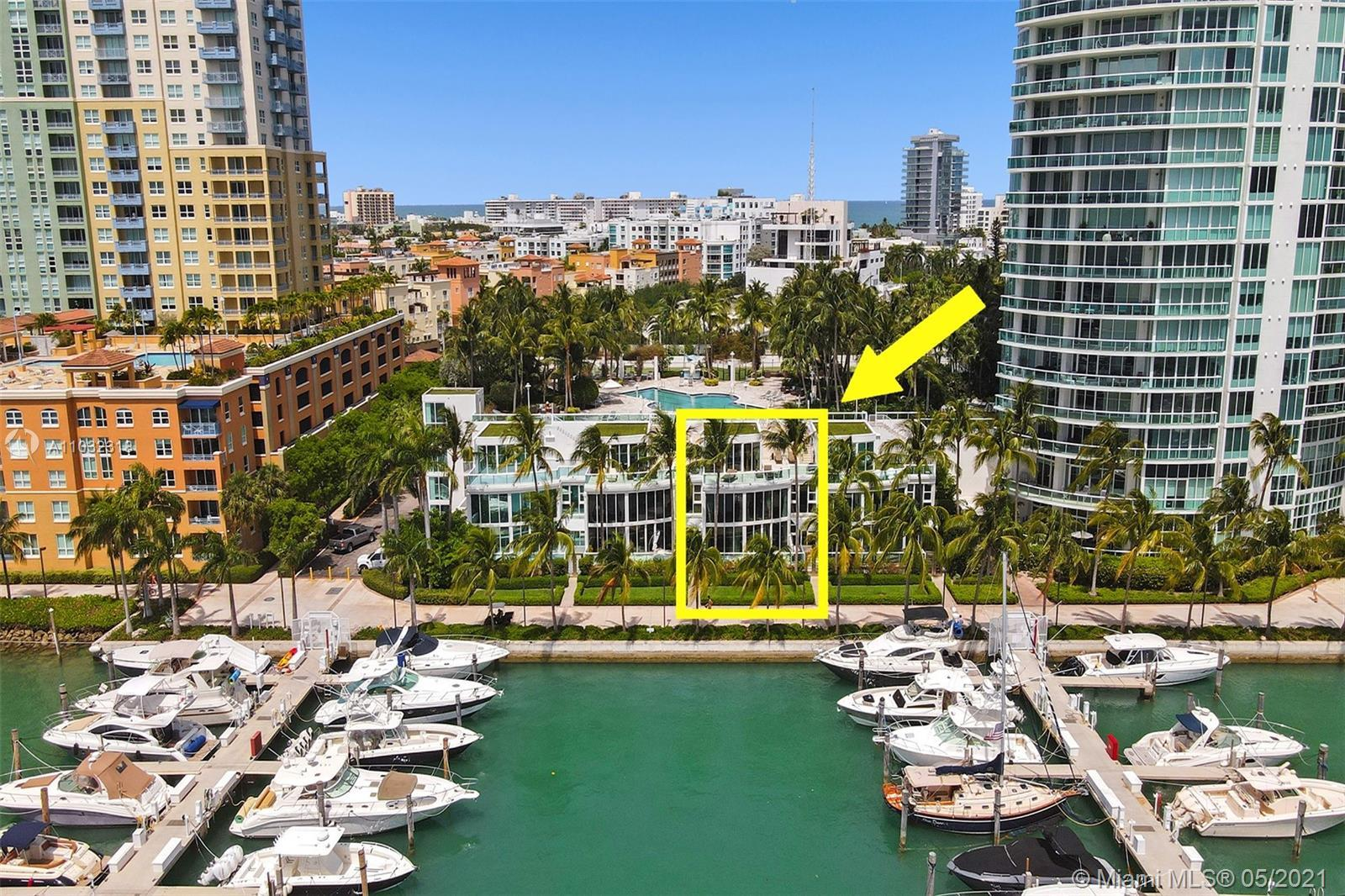 Largest, Waterfront Townhouse in prestigious South of Fifth located in South Beach. This waterfront