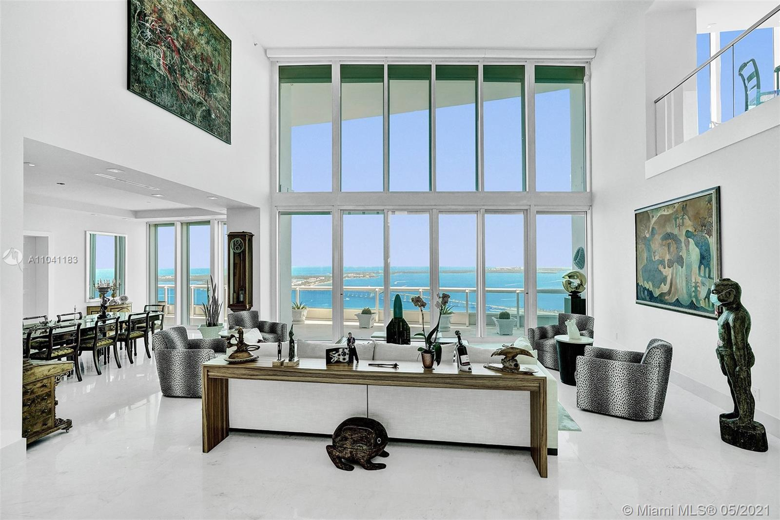 Spectacular views with Miami's sparkling skyline at your feet!  That is the best description of what
