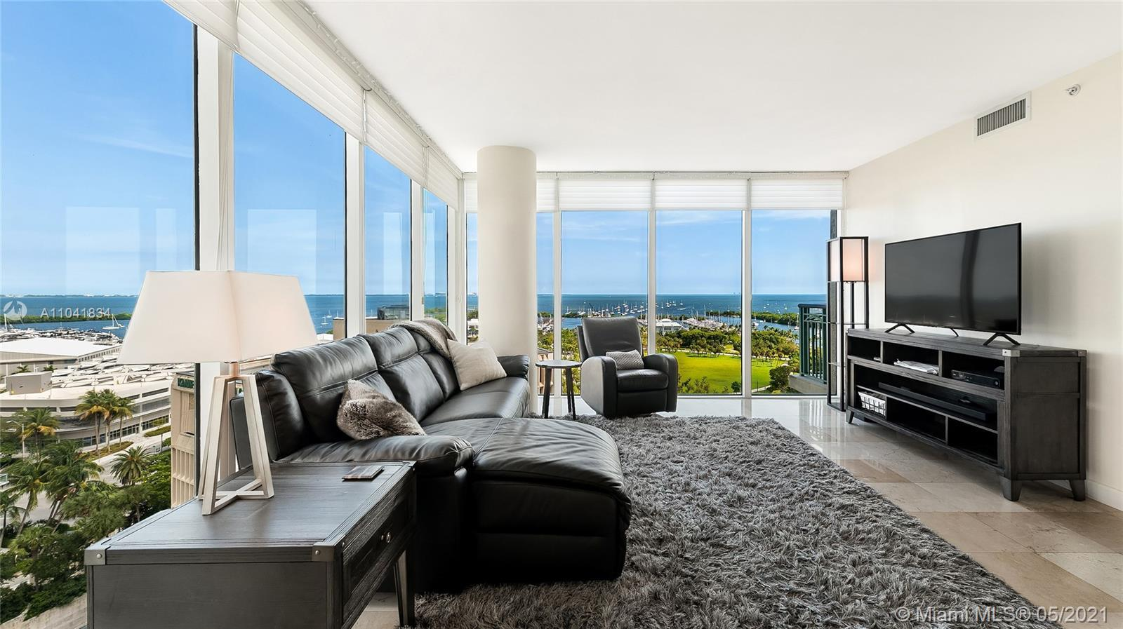 Incredible opportunity to live in a high-floor corner unit with unobstructed water views in the excl