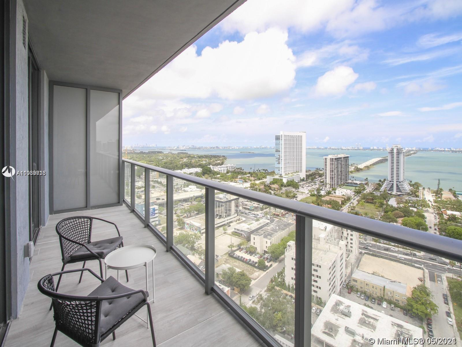 The most desirable view, furnished unit at new HYDE Midtown. 1 Bed/2 Bath + DEN with spectacular & a