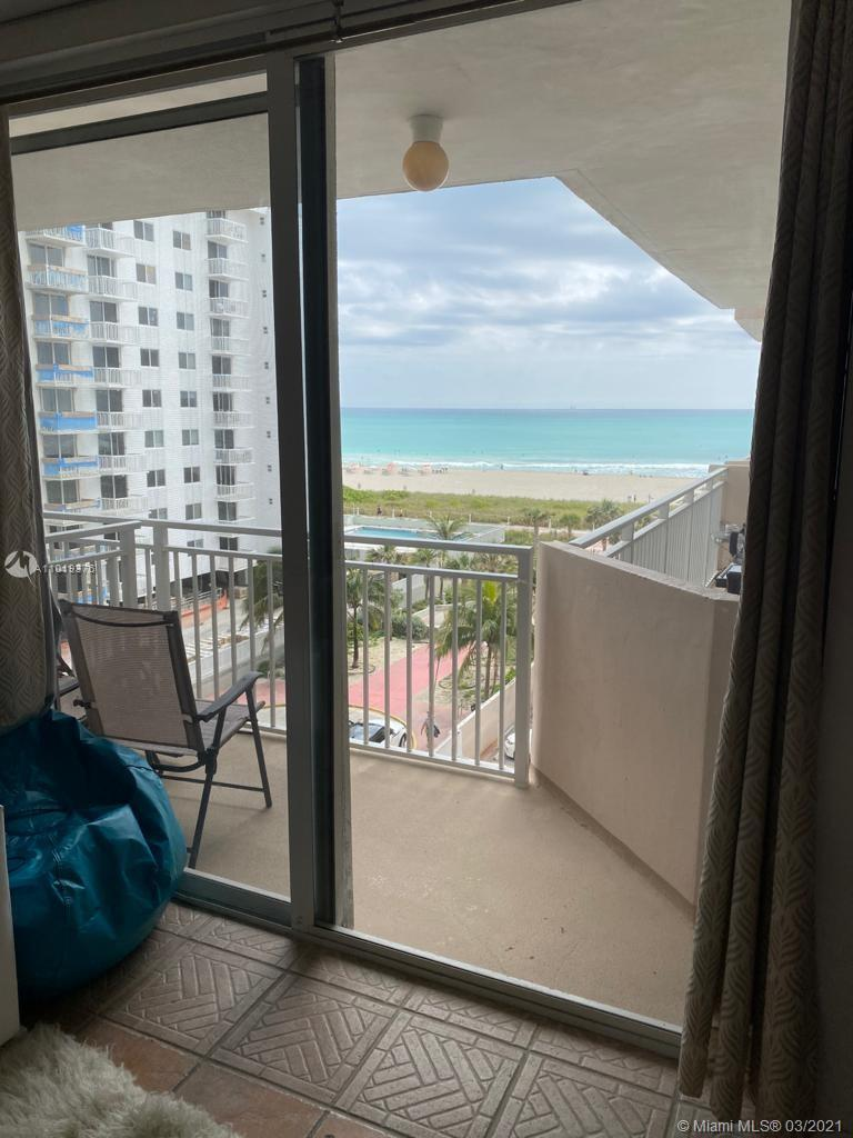 Exceptional South of Fifth oceanfront building  . Large updated studio with balcony and direct ocean