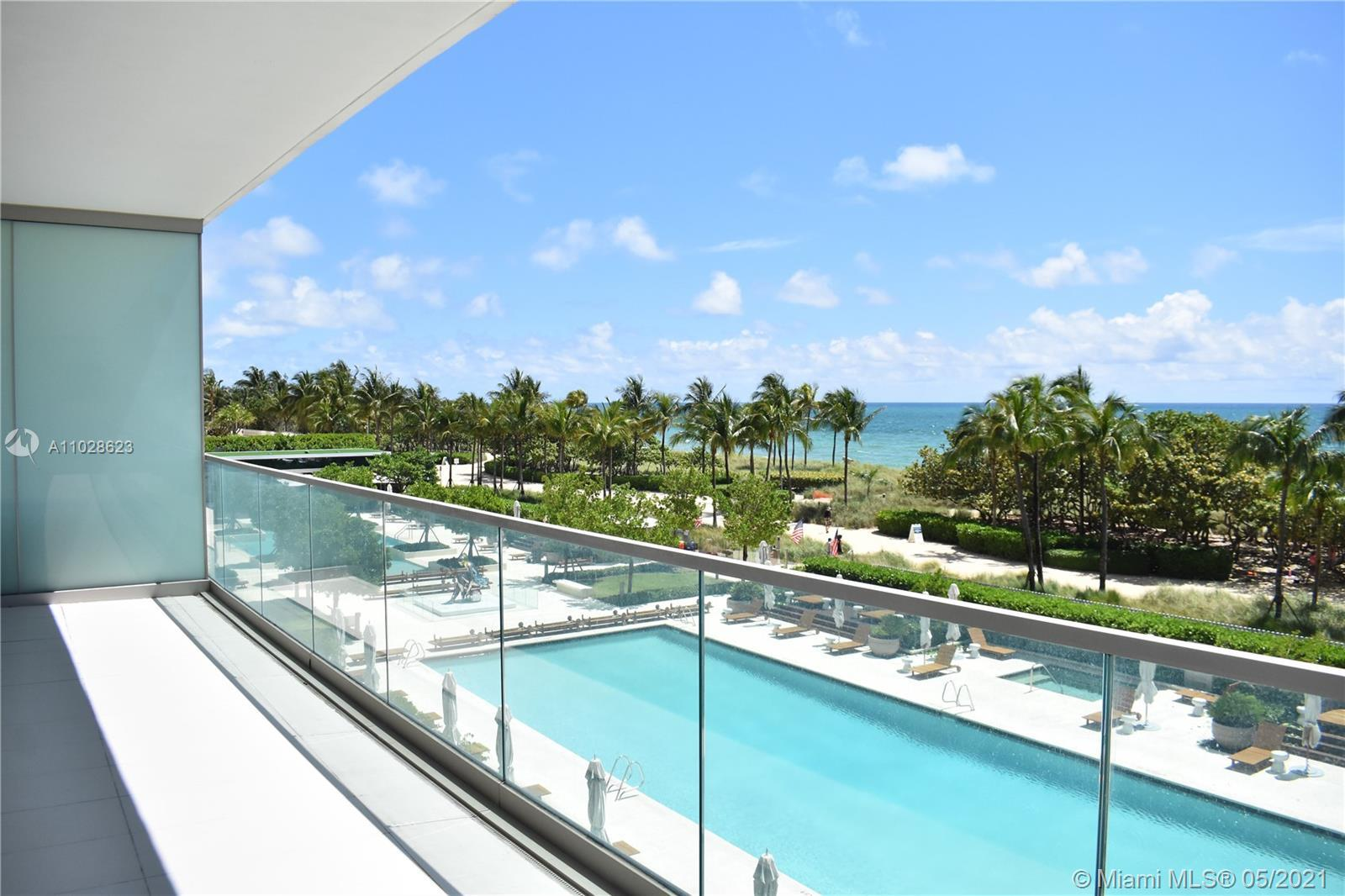 Ocean front corner unit with 2 beds, 2 1/2 Baths at the beautiful & desirable Oceana Bal Harbour. As