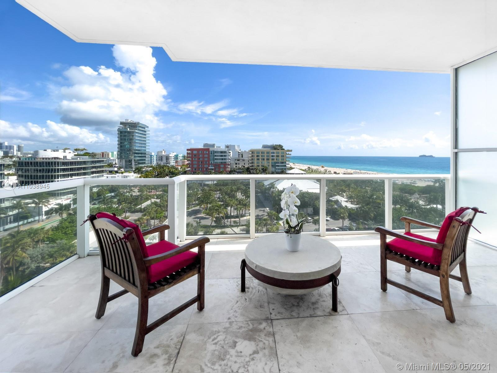 Live the South of Fifth lifestyle at the Continuum on South Beach. This well proportioned 2 bedroom/