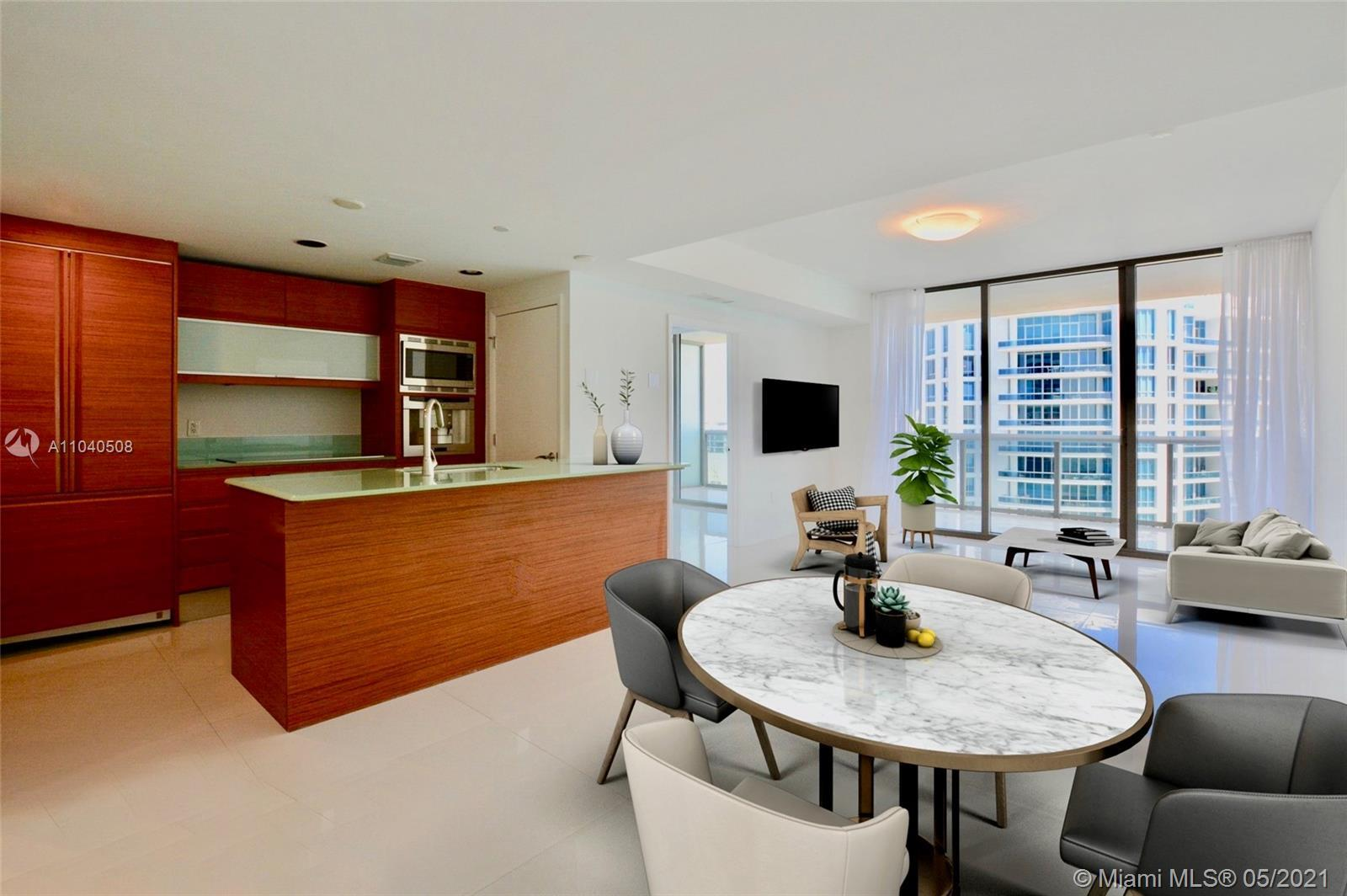Very bright 2 bedroom 2.5 bathroom residence with Ocean Views from all rooms at Mei. High floor matt