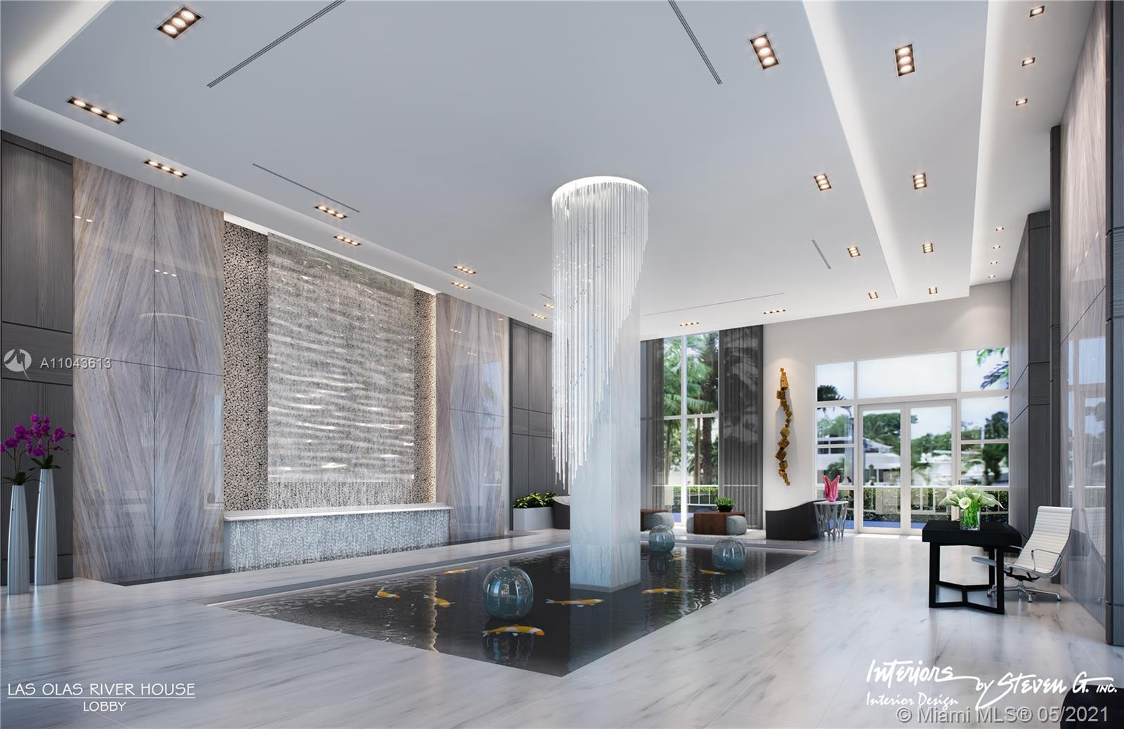 Unique Soho condo in iconic Las Olas River House.  This 1161 sq ft condo was built out as a large on