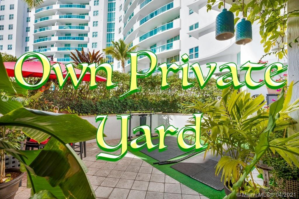 UNIQUE UNIT AT THE 360 WITH AN OVER-SIZED PRIVATE PATIO!! Rare to find in the market - lanai unit wi